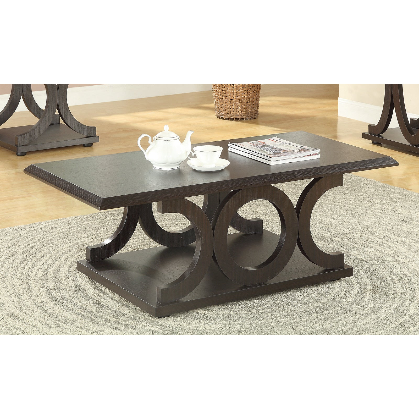 Coaster pany Furniture Cappuccino Coffee Table Free Shipping