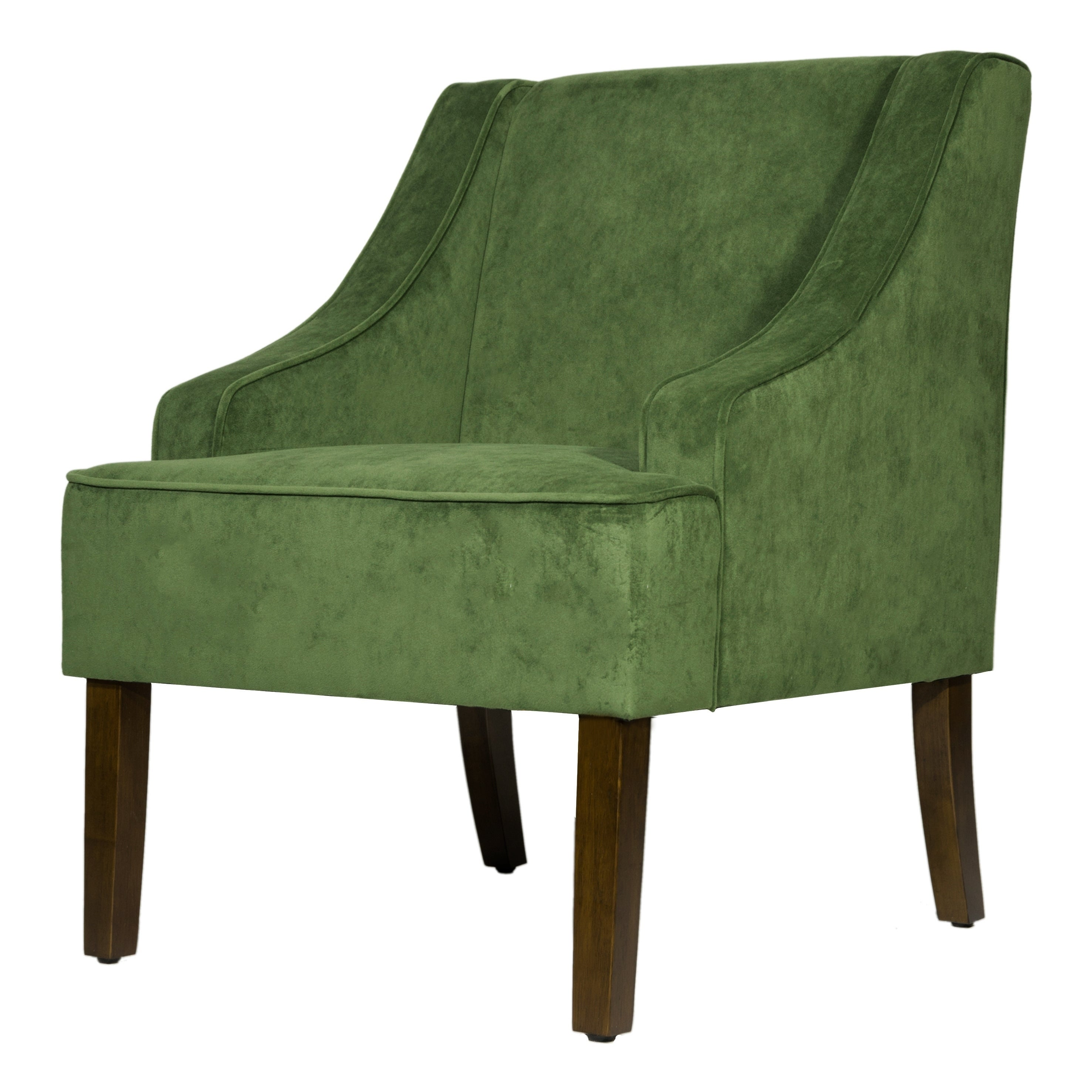 HomePop Velvet Swoop Arm Accent Chair Free Shipping Today