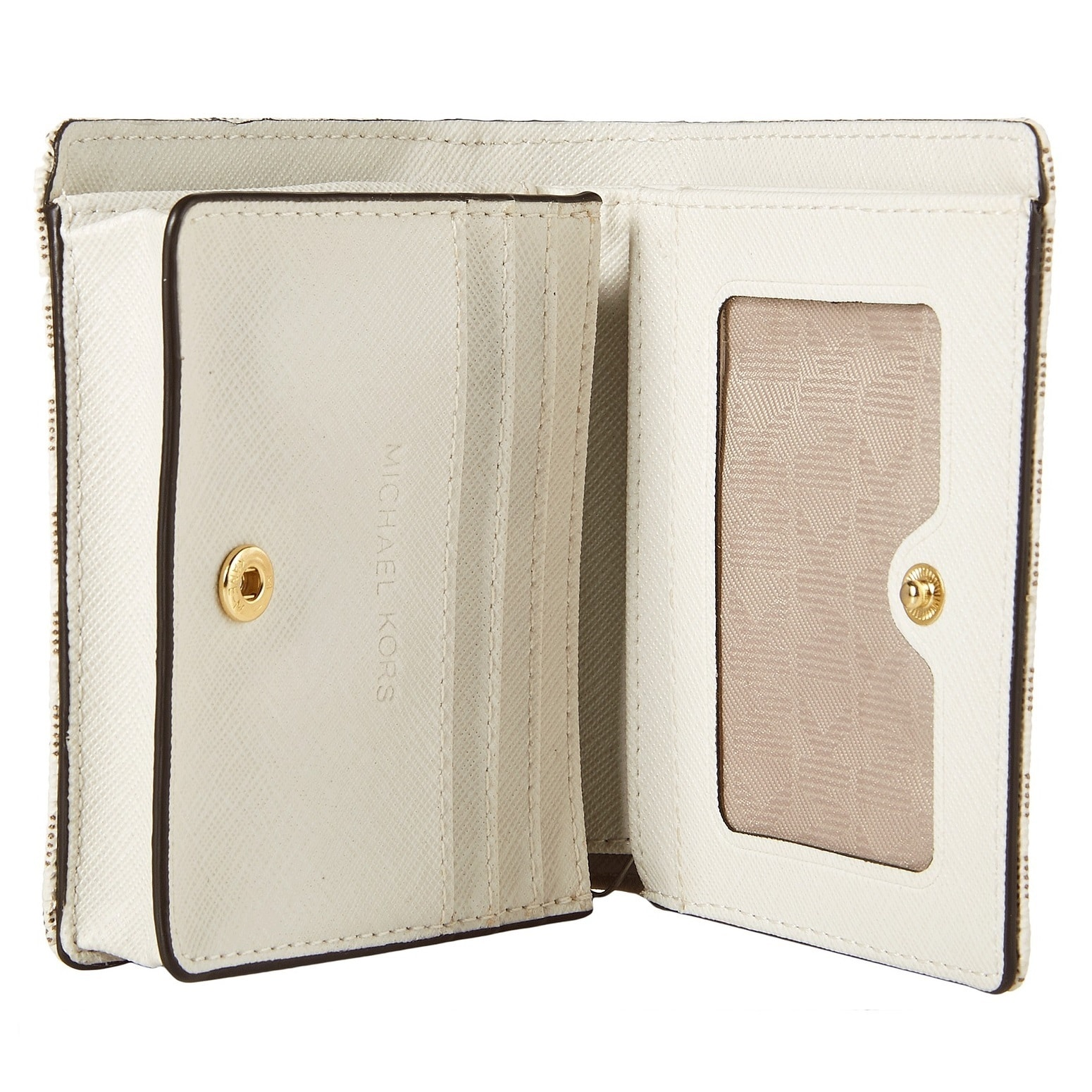 c074073f0585 Shop Michael Kors Jet Set Travel Vanilla Carry All Card Case Wallet - Free  Shipping Today - Overstock - 12186068
