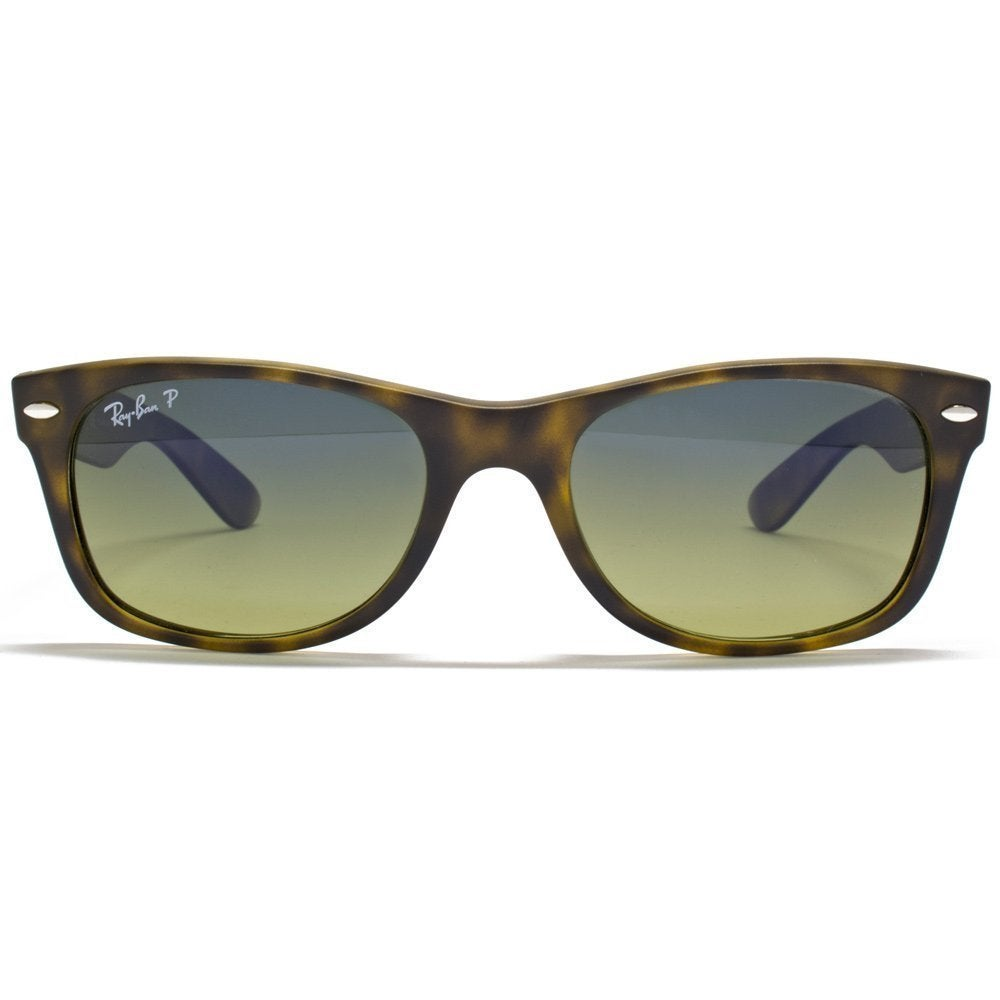 7dd8393a4a0ce Shop Ray-Ban RB2132 894 76 New Wayfarer Tortoise Frame Polarized Blue Green  Gradient 52mm Lens Sunglasses - Free Shipping Today - Overstock - 12186321