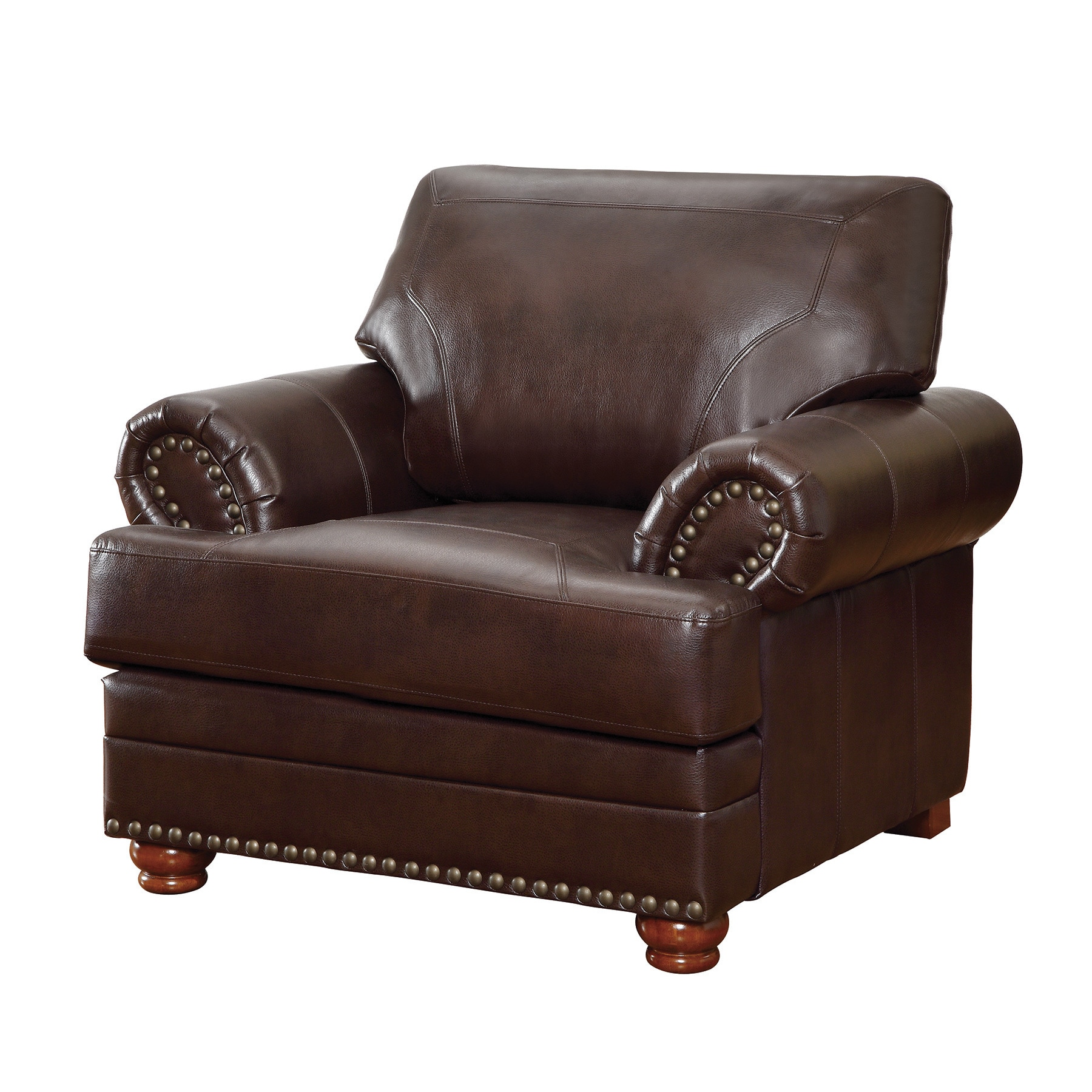 Coaster Company Colton Brown Smooth Bonded Leather Arm Chair Free Shipping Today 12186617