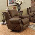 Coaster Company Brown Swivel Microfiber Rocker Swivel Recliner