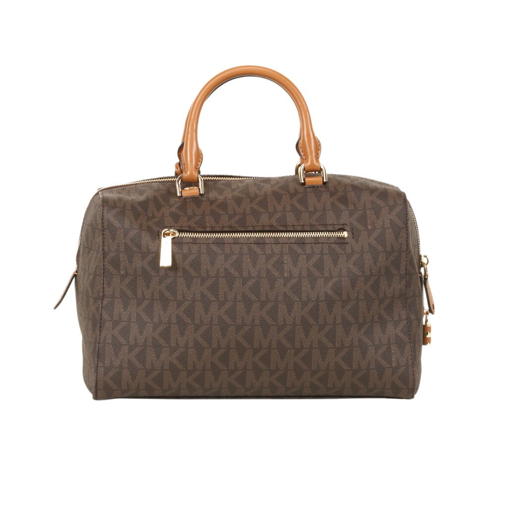 6c83e20e6676 ... promo code for shop michael kors signature brown large kirby satchel  handbag free shipping today overstock