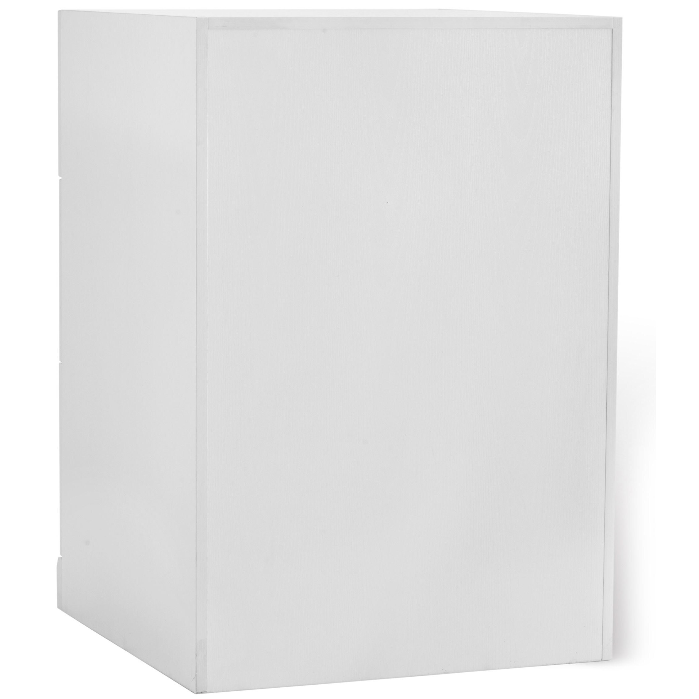 NewAge Products Home Bar 24-inch high x 24-inch wide 3-drawer Cabinet White  Shaker Style