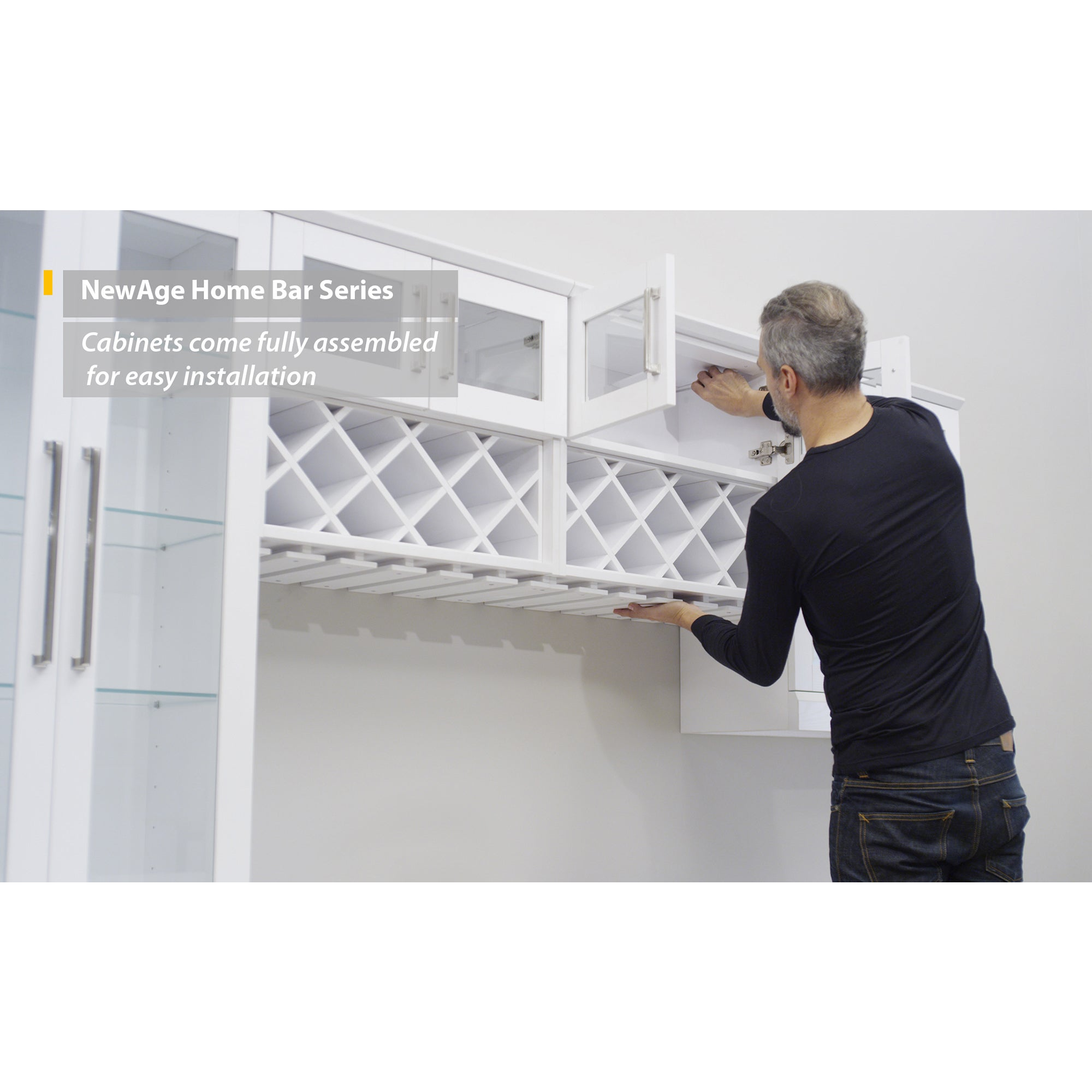 Shop NewAge Products White Shaker Style 7 Piece Home Bar Storage Cabinet    Free Shipping Today   Overstock.com   12187605
