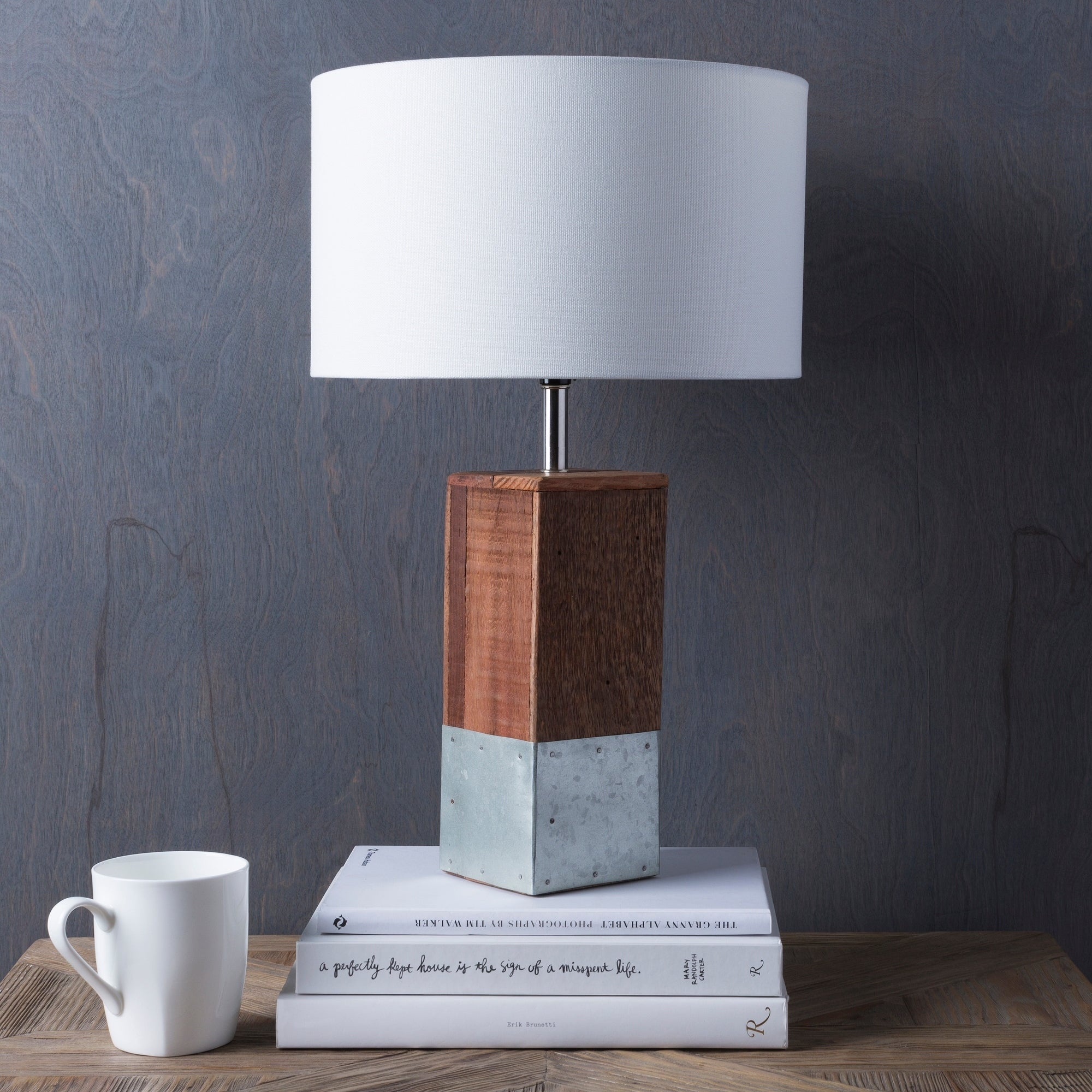 Shop Anger Natural Finish Wood Base Table Lamp On Sale Free