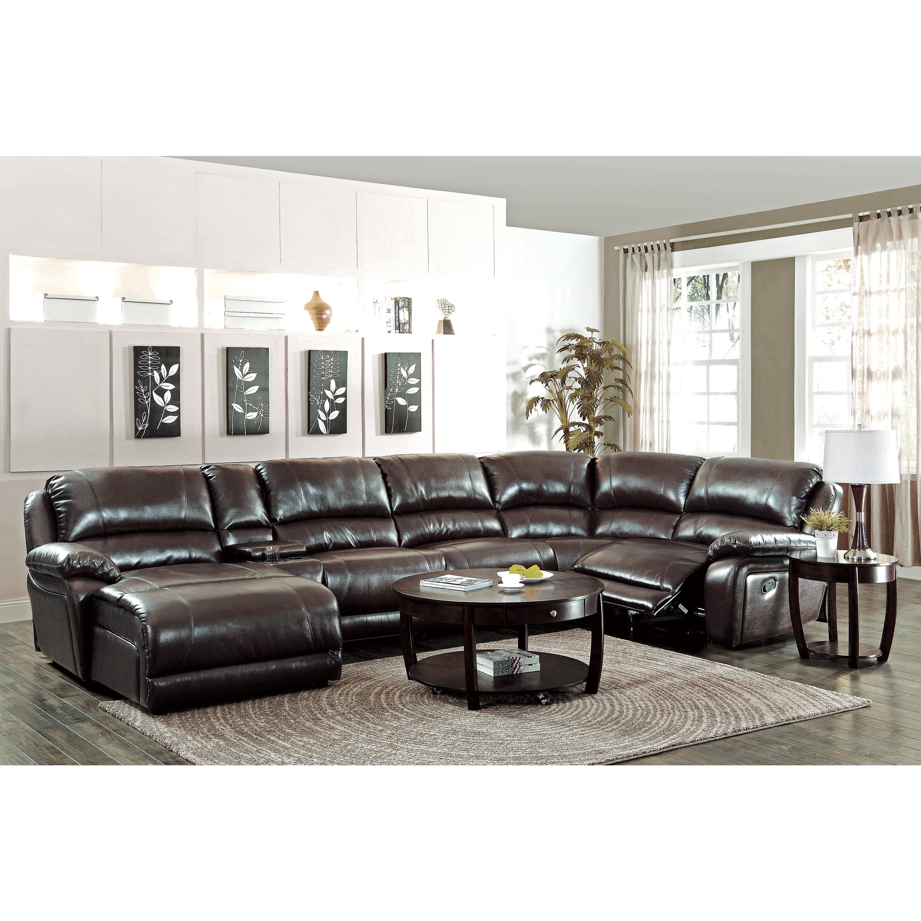 products reclining number item by faux nantahala with design signature ashley chaise leather sectional recliner