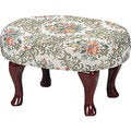 Coaster Company Floral Upholstered Cherry Footstool