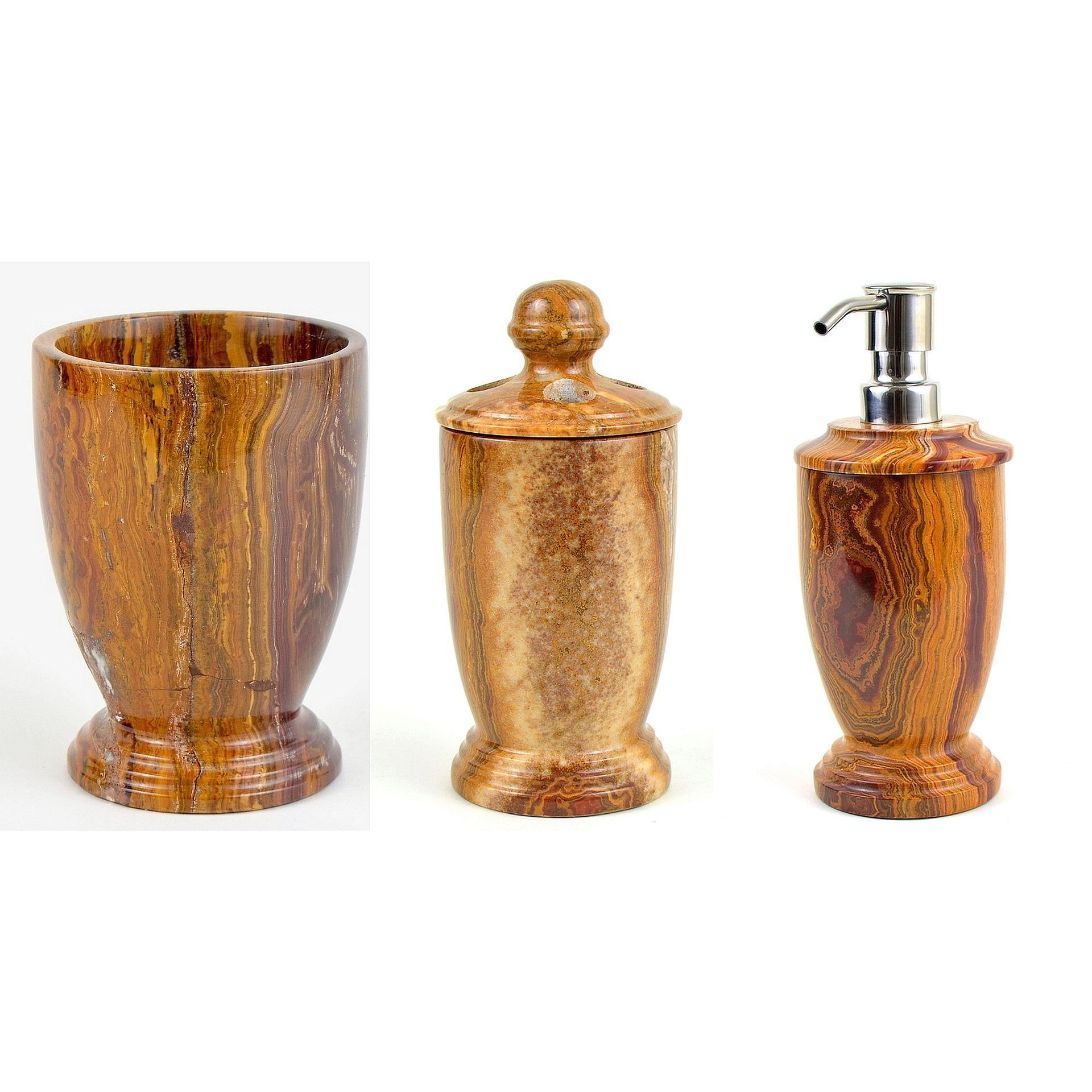 Shop Nature Home Decor Atlantic Collection Multi Brown Onyx 3-Piece ...