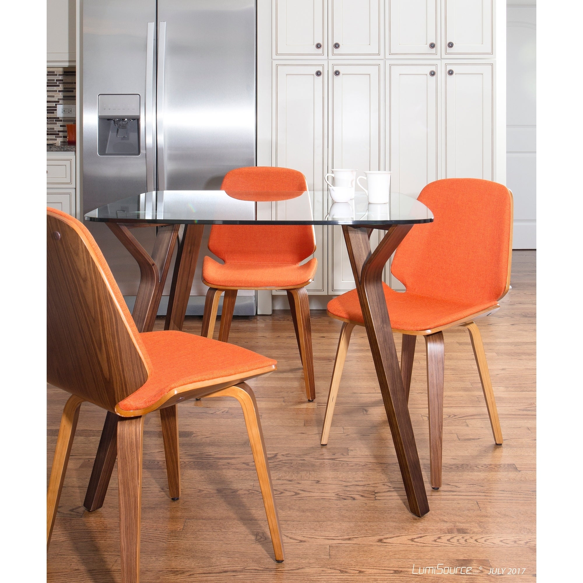 Serena Walnut Mid Century Modern Dining Chairs (Set Of 2)   Free Shipping  Today   Overstock.com   19041908