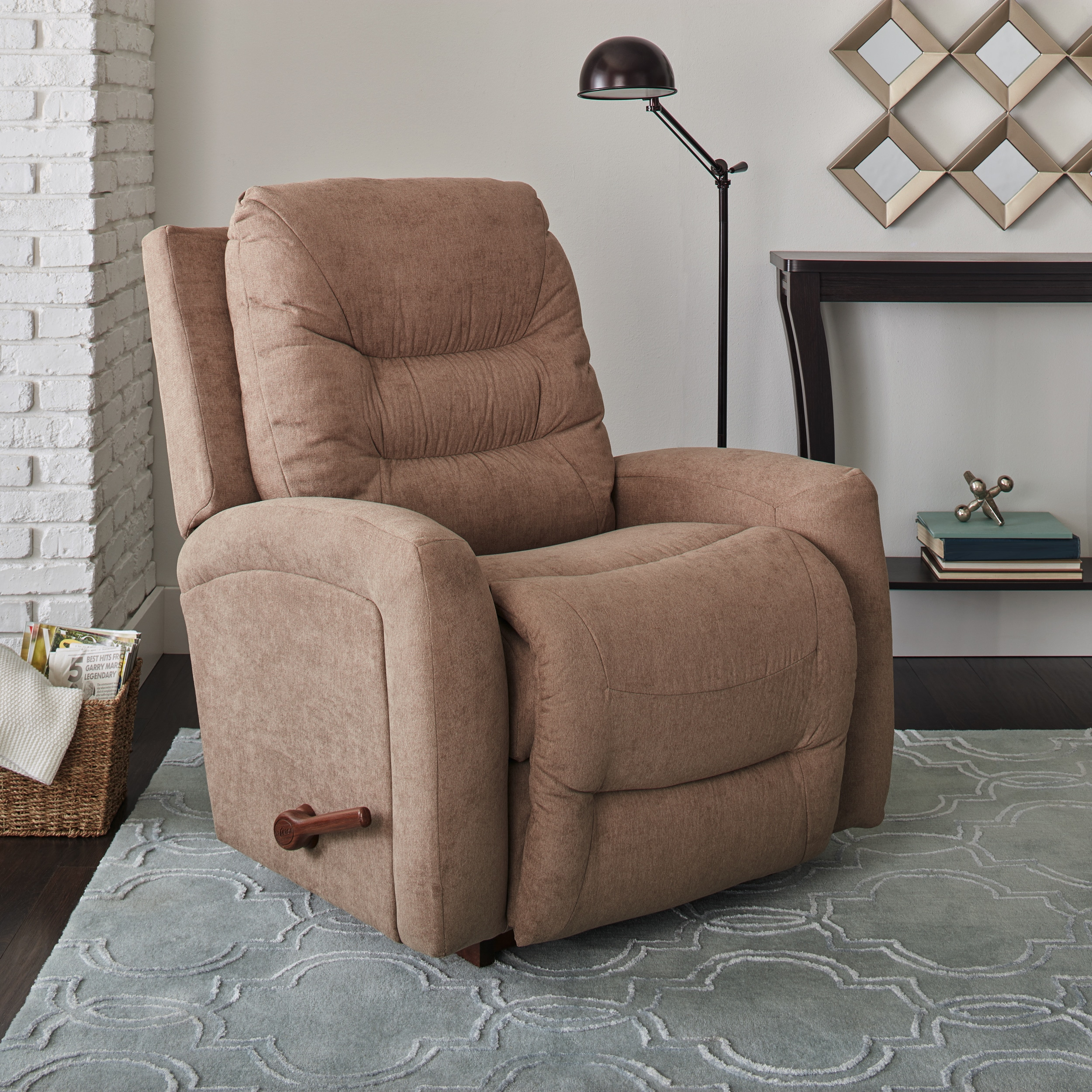 Shop La Z Boy Ace Beige Fabric Recliner - Free Shipping Today ...