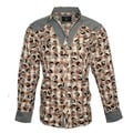 Rock Roll N Soul Men's 'Plaid of Skulls' Western Fashion Multicolor Cotton Button-front Woven Shirt