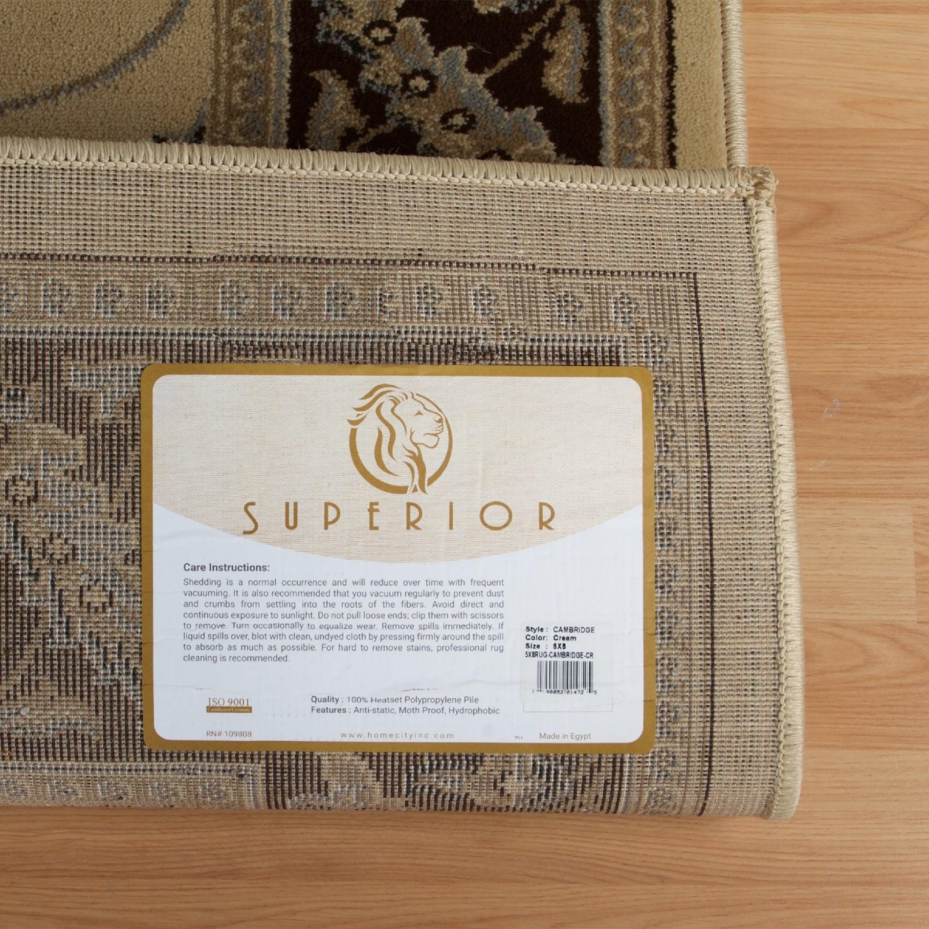 Superior Elegant Cambridge Area Rug Collection (5' x 8') - 5' x 8'