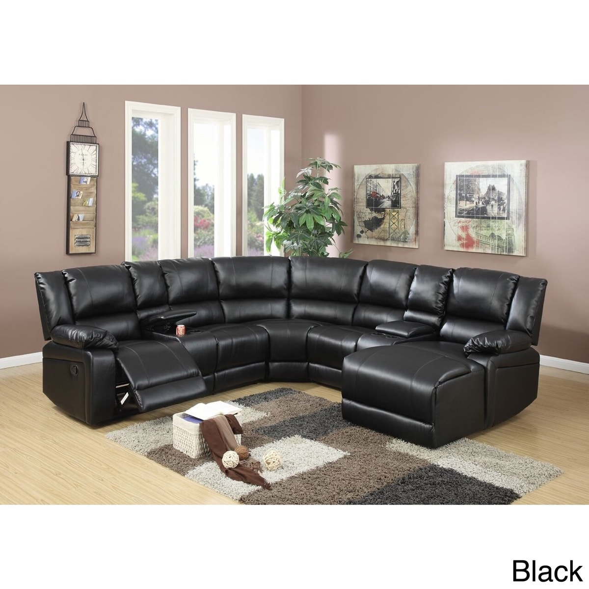 Segudet Bonded Leather Motion Sectional Sofa Free Shipping Today 12199550