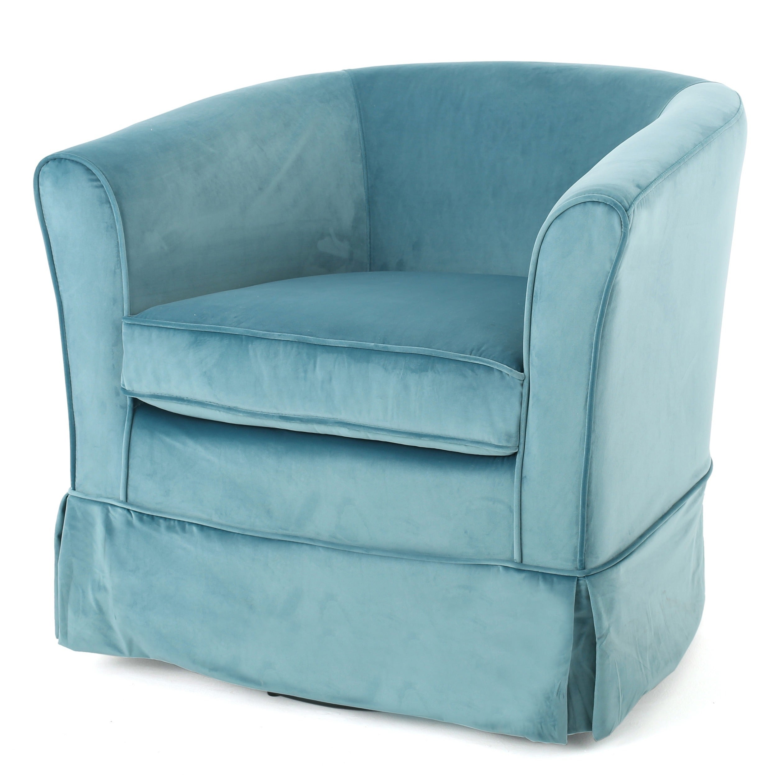 Shop Cecilia Velvet Swivel Club Chair by Christopher Knight Home ...