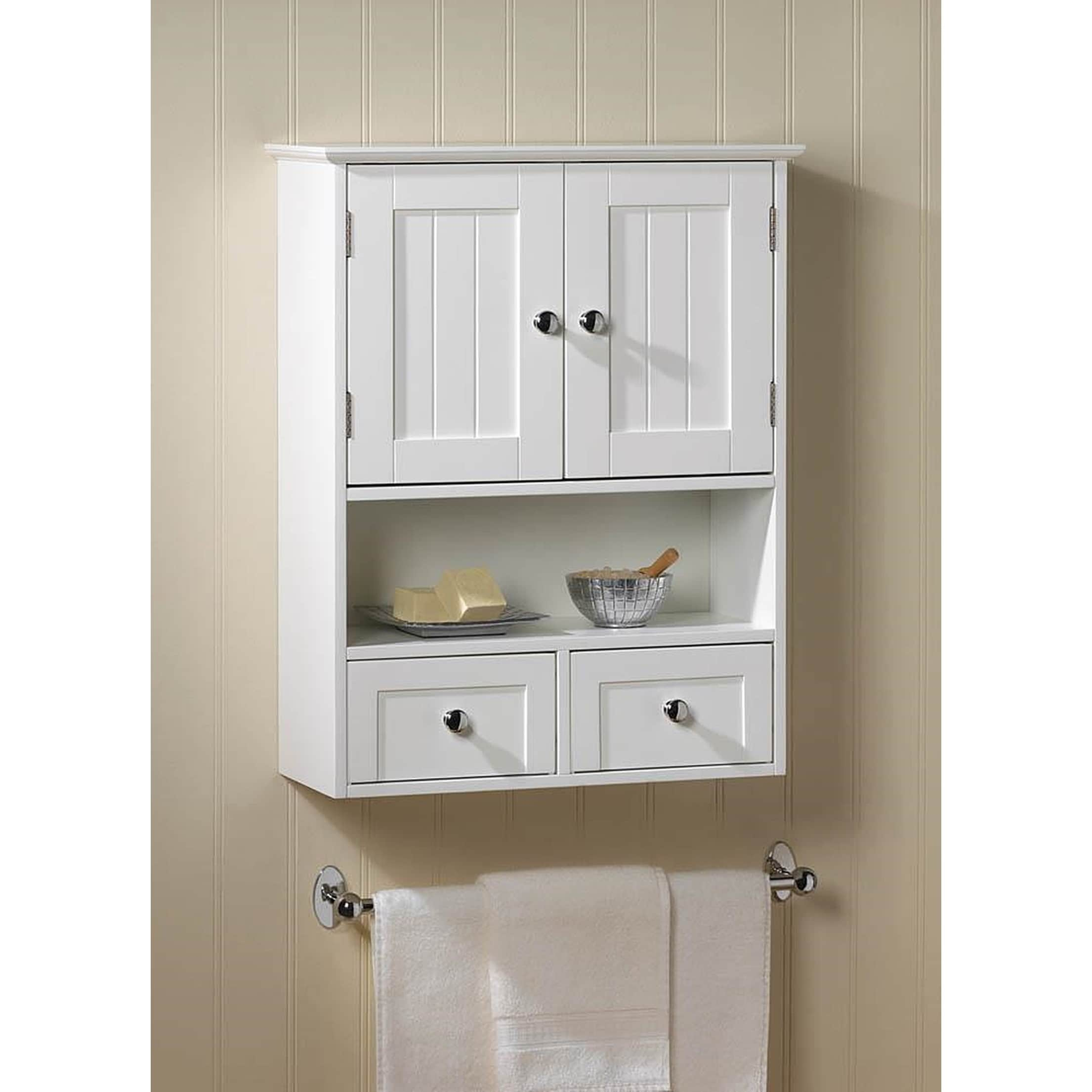 Shop Olympia White Wall Mounted Display Cabinet   Free Shipping Today    Overstock.com   12200857