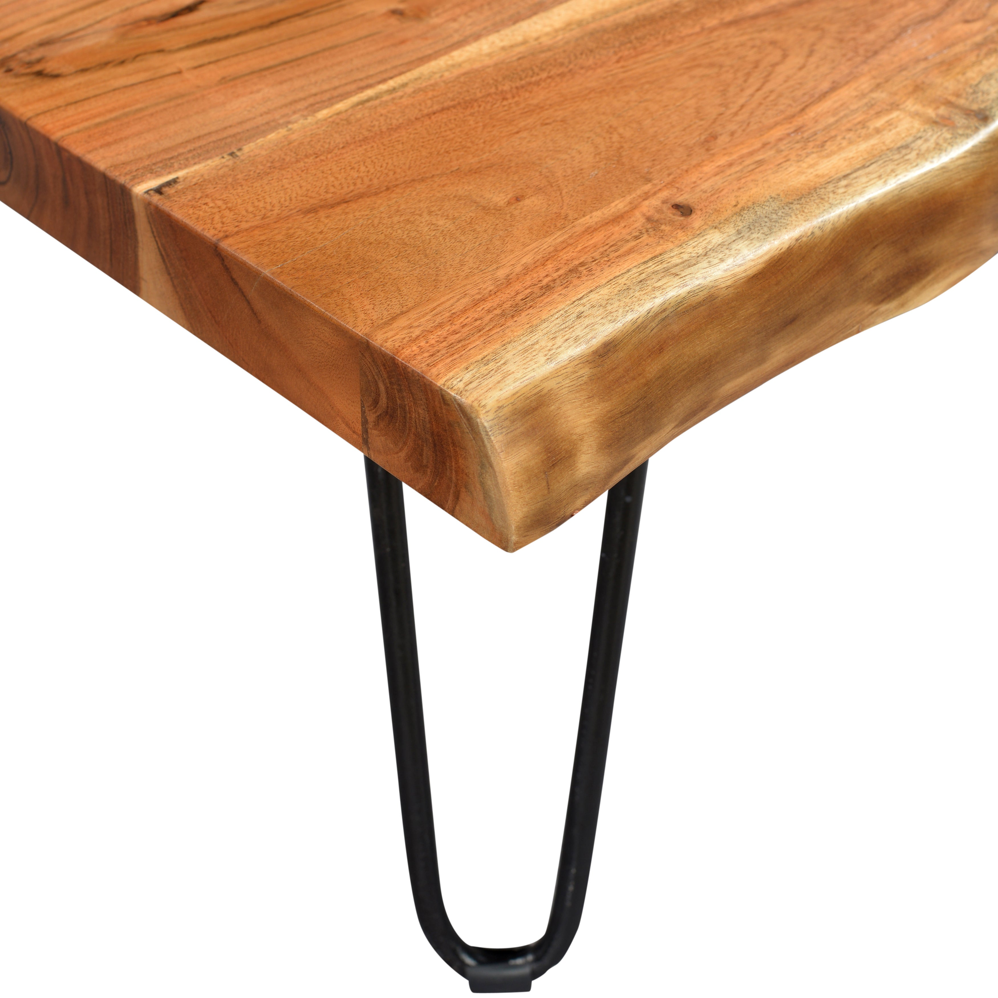 Wanderloot Mojave Sustainable Live Edge Acacia Coffee Table with Hairpin  Legs - Free Shipping Today - Overstock.com - 19051749