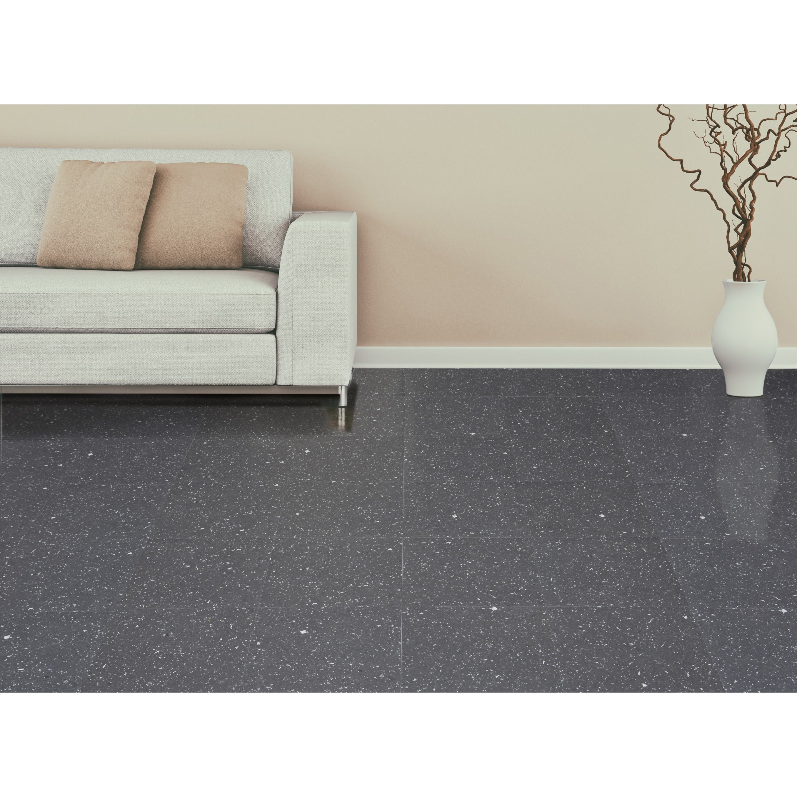 Achim sterling black speckled granite 12 inch x 12 inch self achim sterling black speckled granite 12 inch x 12 inch self adhesive vinyl floor tile case of 20 tiles2 free shipping on orders over 45 dailygadgetfo Image collections