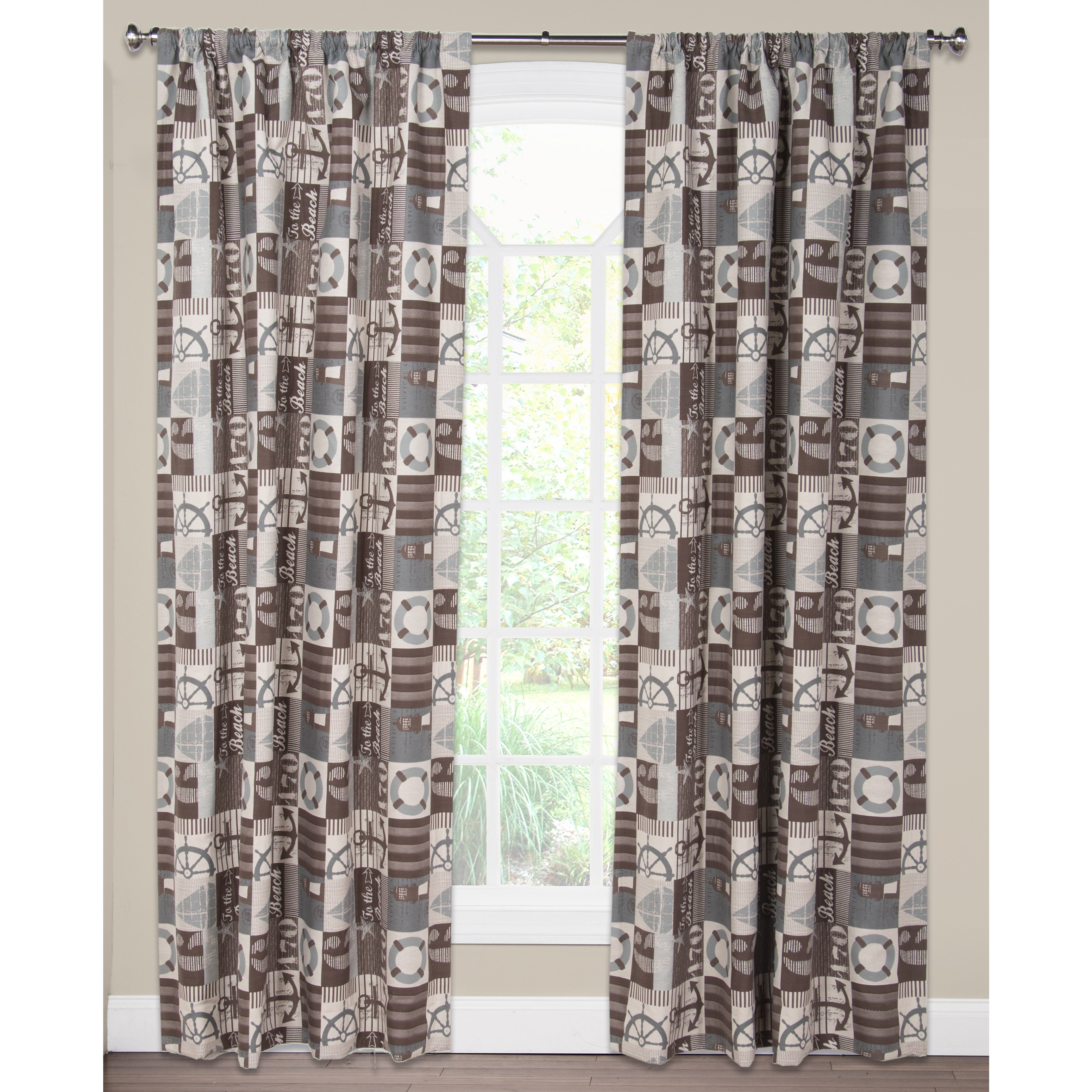To The Beach Curtain Panel Free Shipping Today 12204758