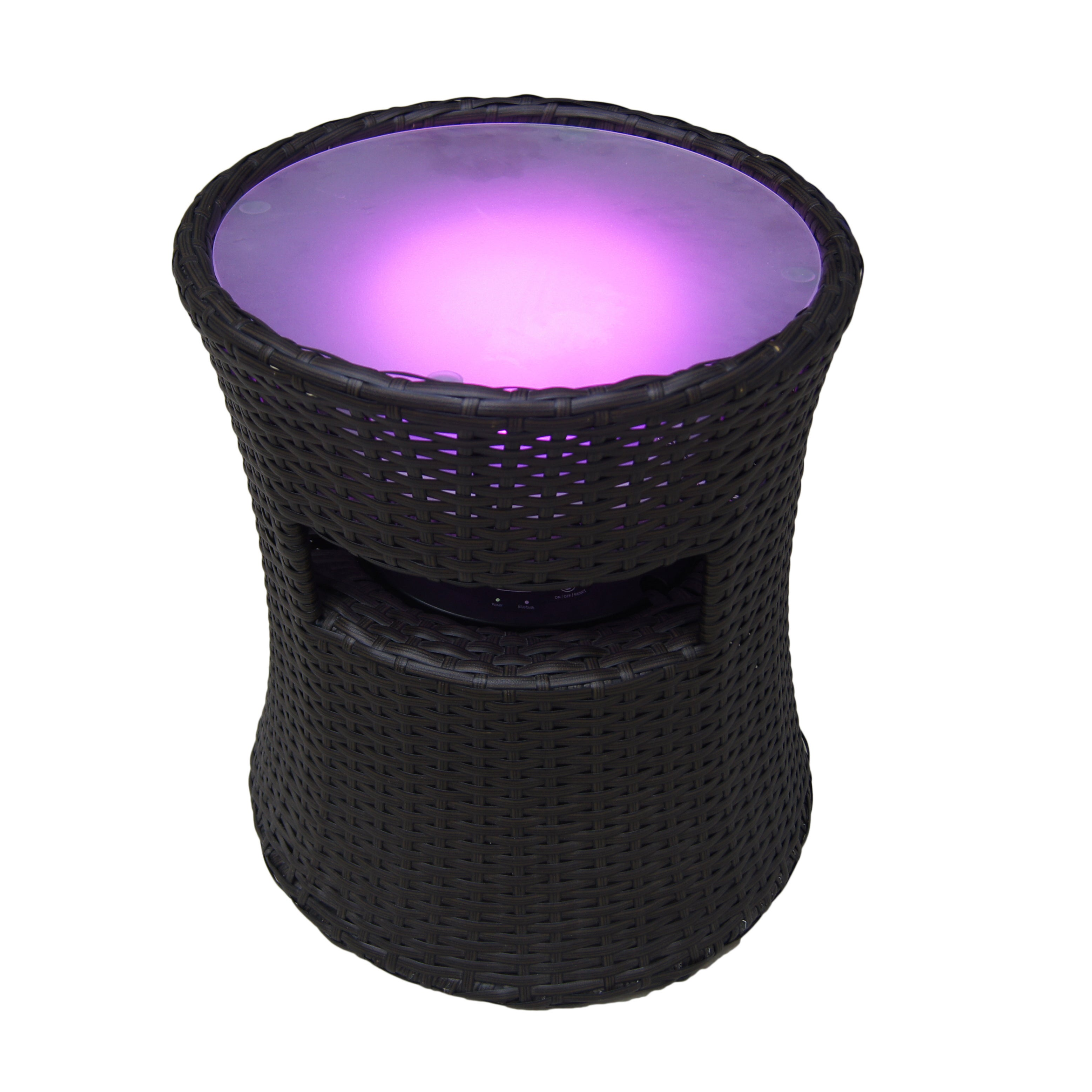 Speaker Led Light Side Table Free Shipping Today 12204922