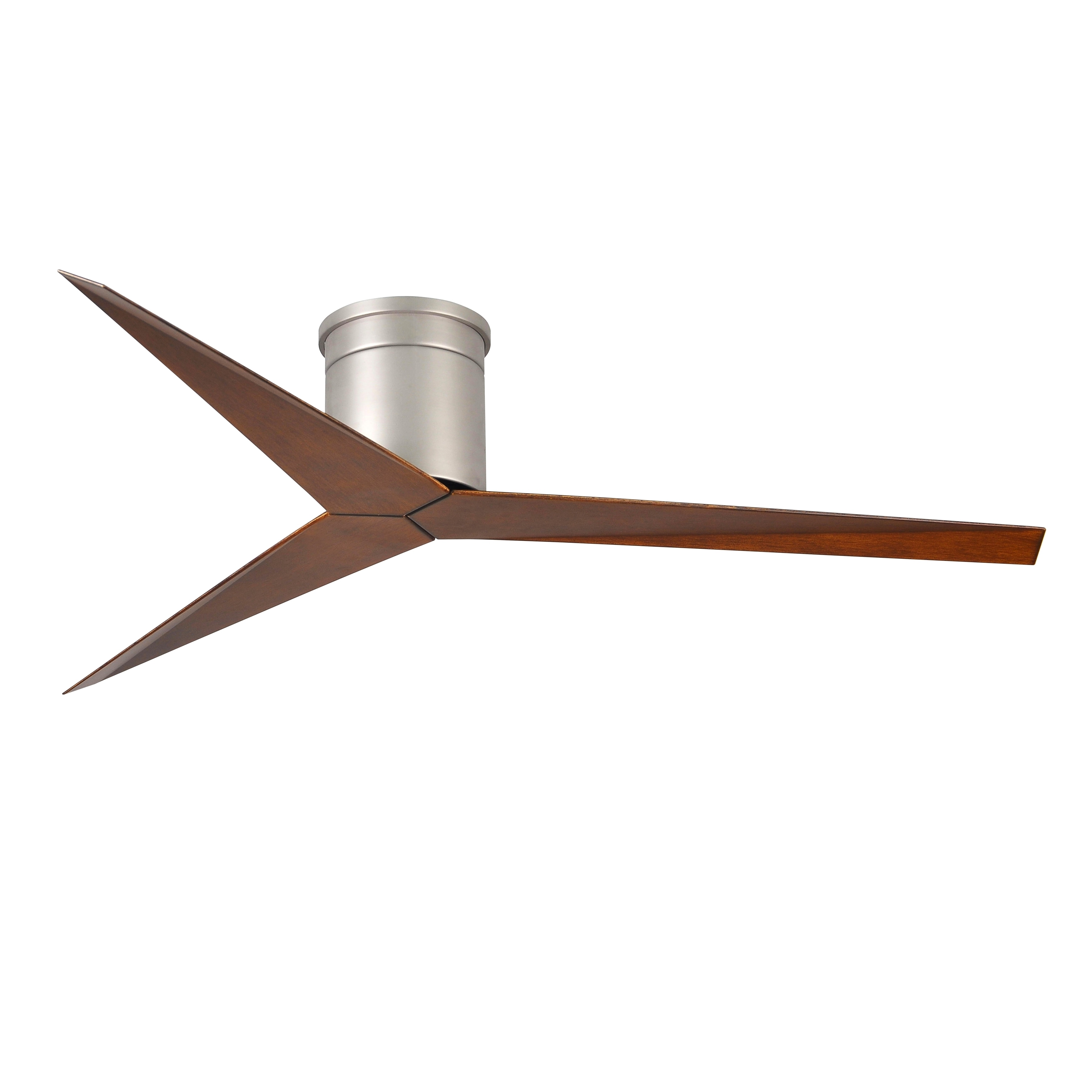 Shop Matthews Fan Company Eliza H 3 Blade Hugger Paddle Brushed Hunter Parts Department Nickel Ceiling With Walnut Tone Blades Brown Ships To Canada