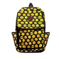 Emoji Icons Black-and-yellow Canvas Backpack