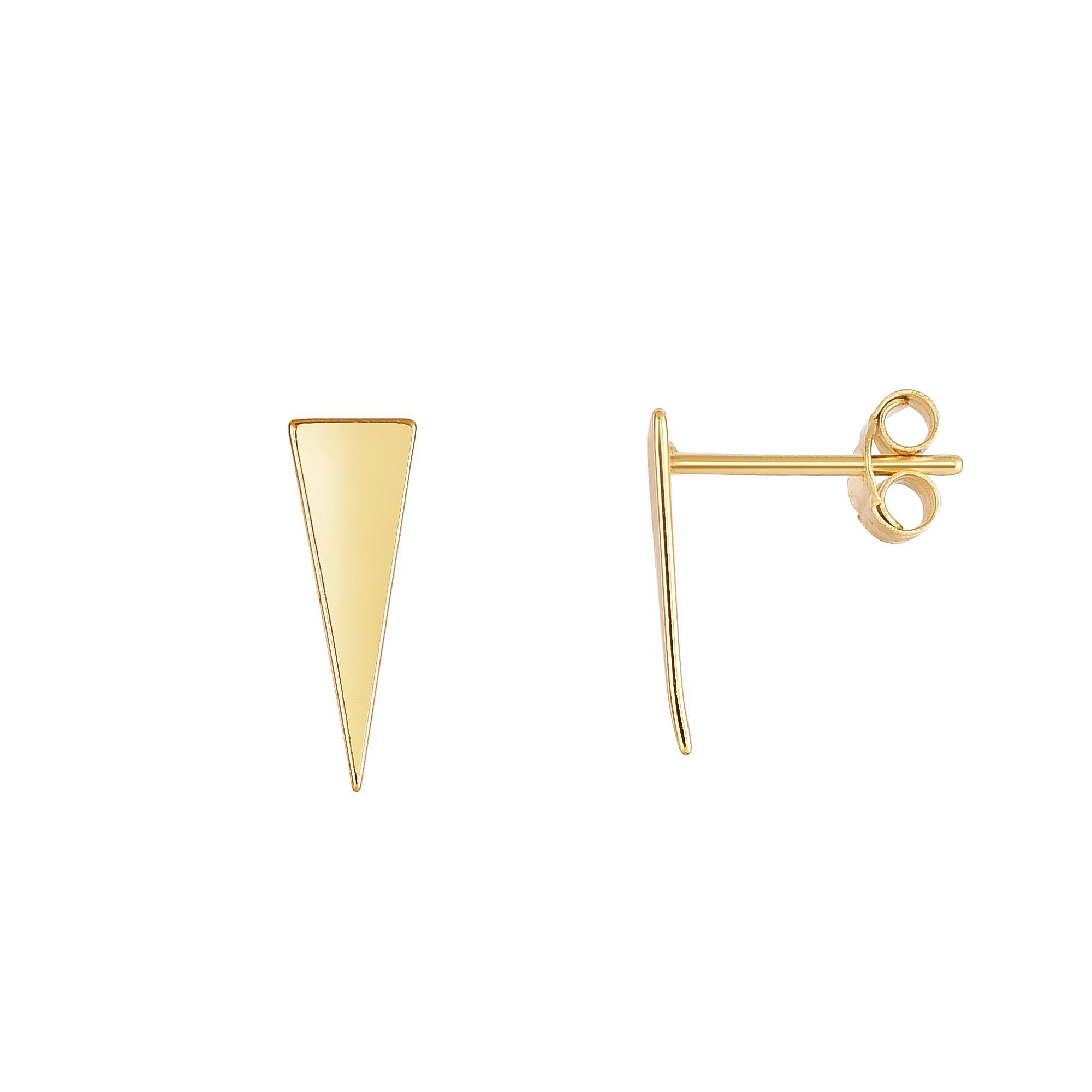 leather long triangle striped minimal black pin earrings geometric stud gold and