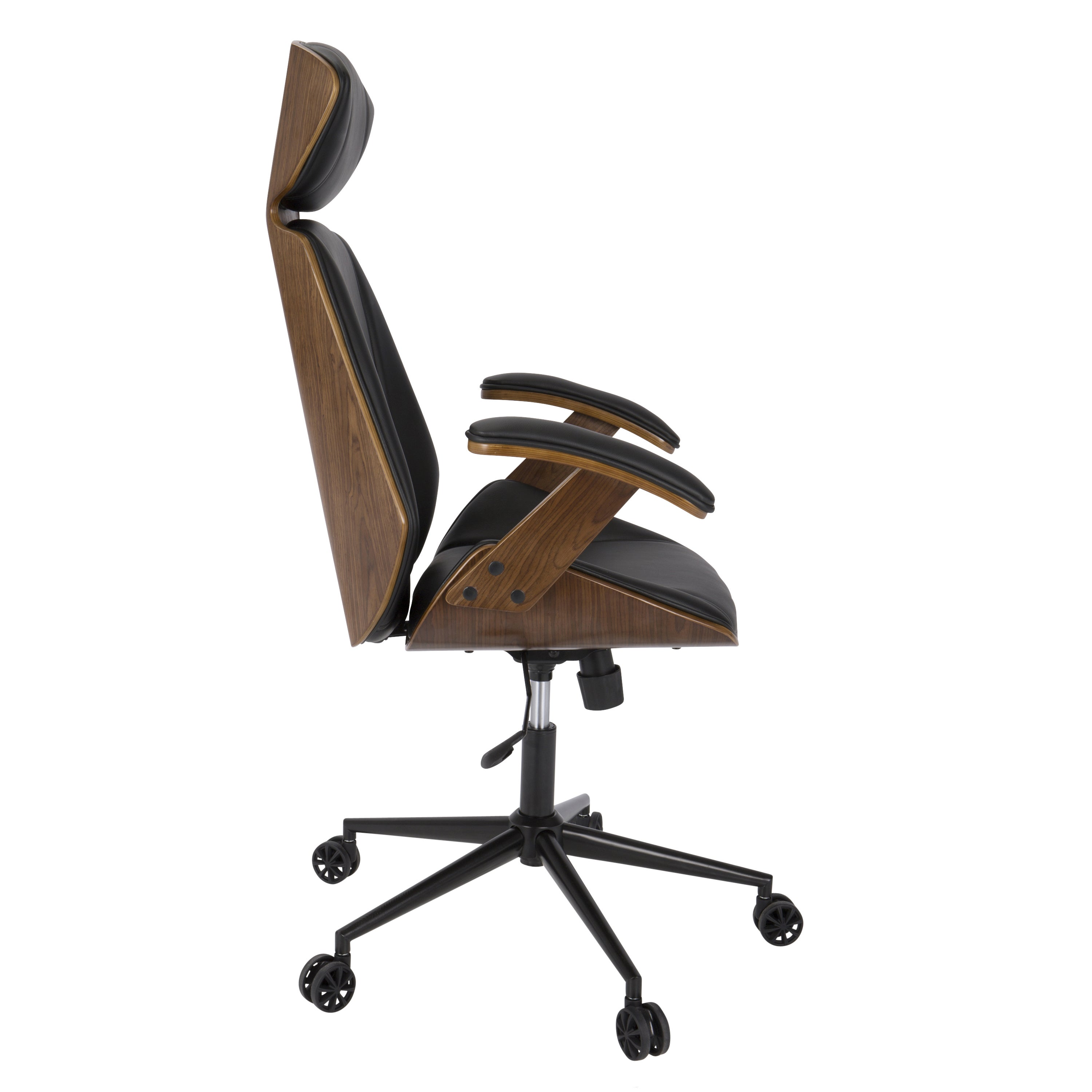 modern wood office chair. Spectre Mid-Century Modern Walnut Wood Office Chair - Free Shipping Today Overstock 19064198