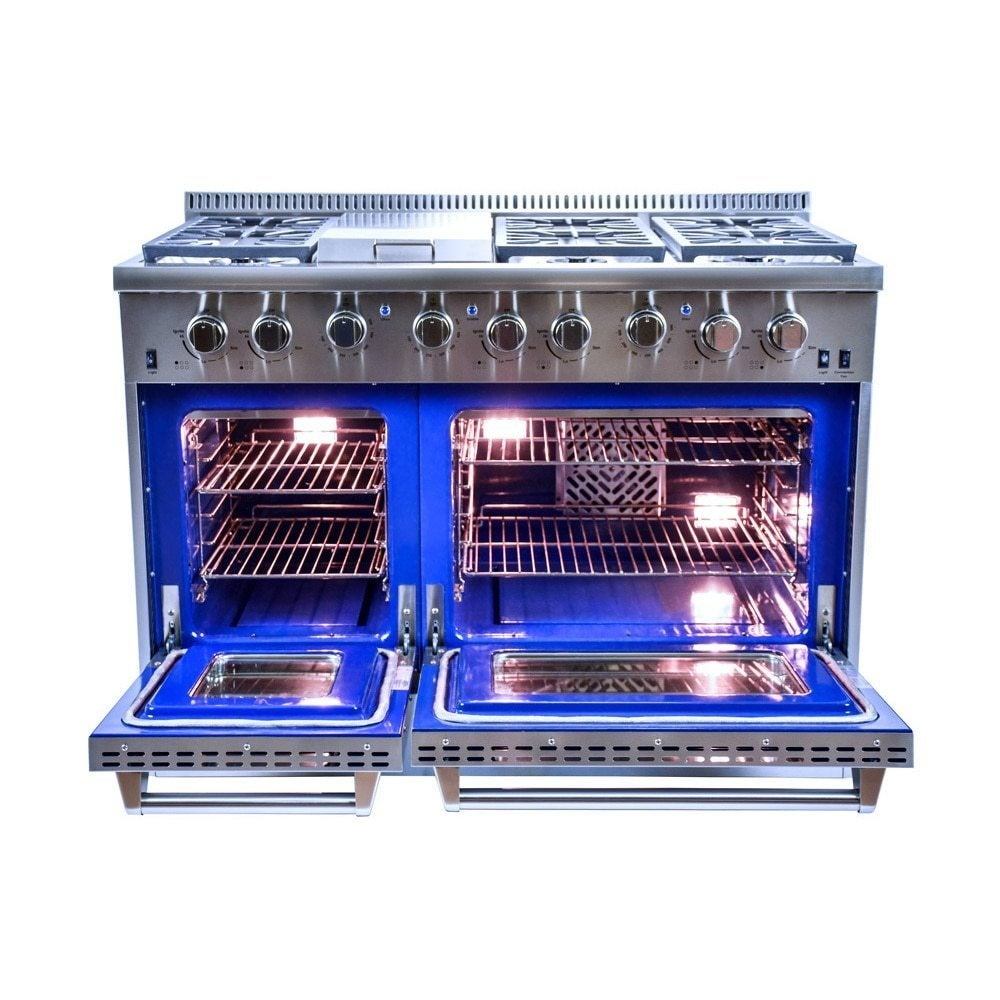 Hallman 48-inch Stainless Steel Professional Convection Gas Range ...