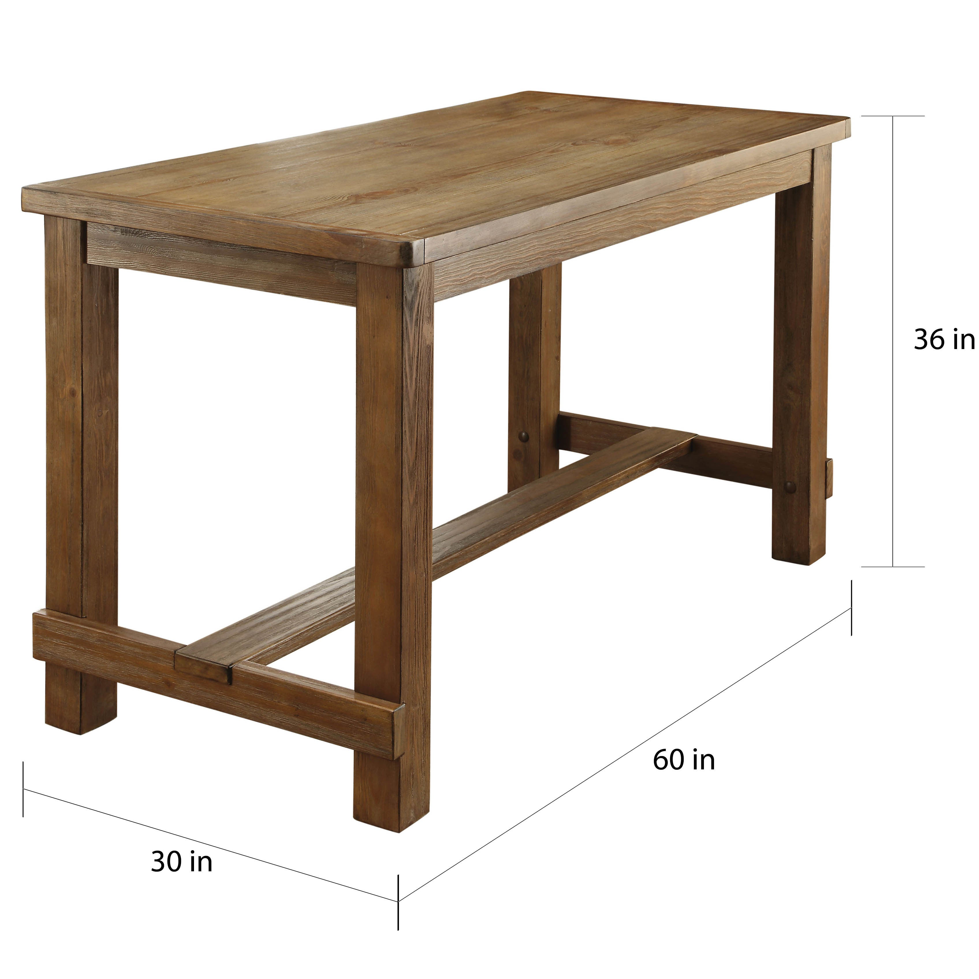 Furniture Of America Telara Contemporary Natural Counter Height. Brooklyn Work  Table ...