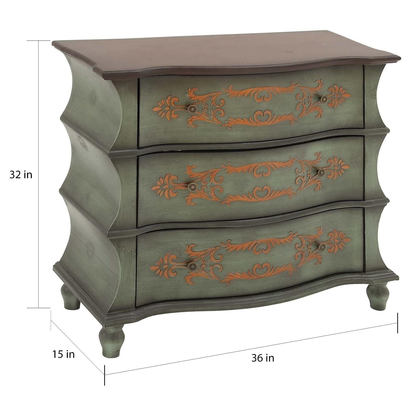 Pleasing Traditional 32 X 36 Inch Distressed Green Wooden Dresser By Studio 350 Interior Design Ideas Philsoteloinfo