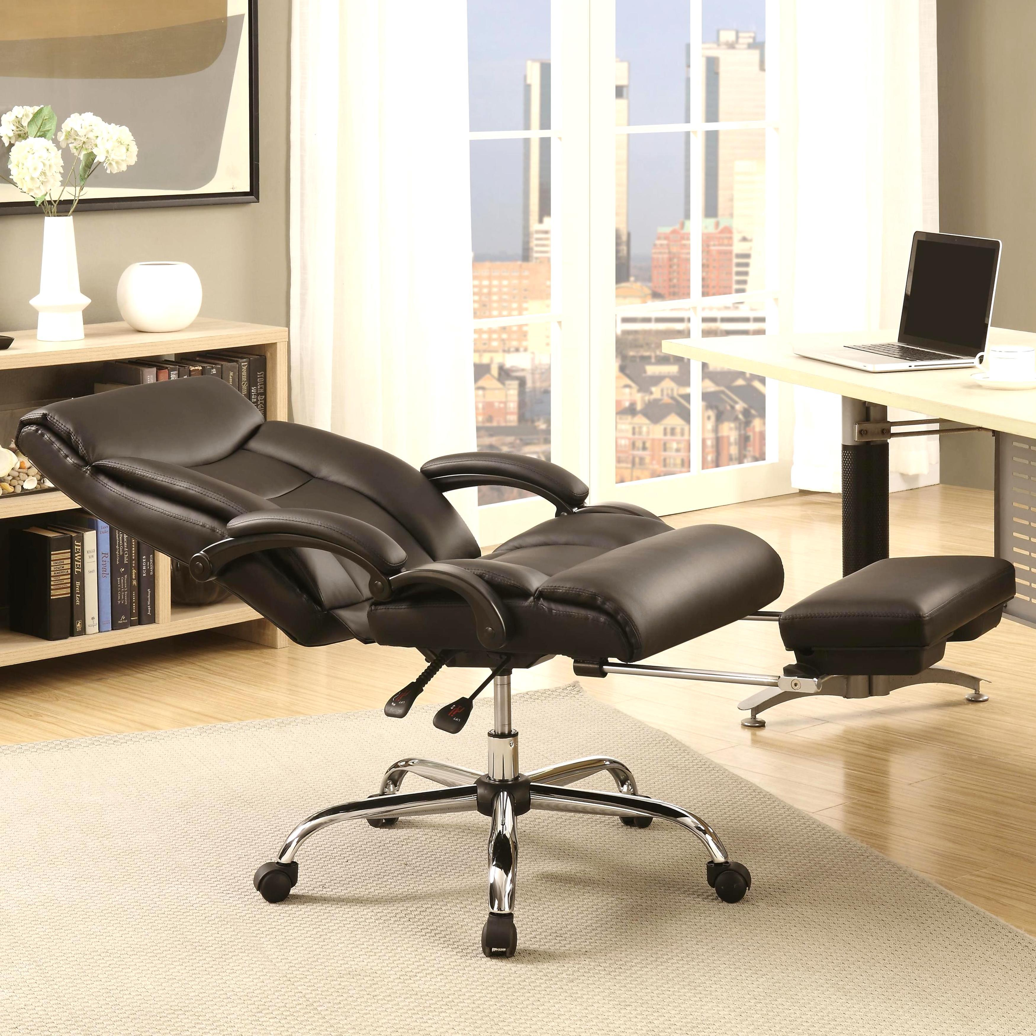 Ordinaire Executive Adjustable Reclining Office Chair With Incremental Footrest