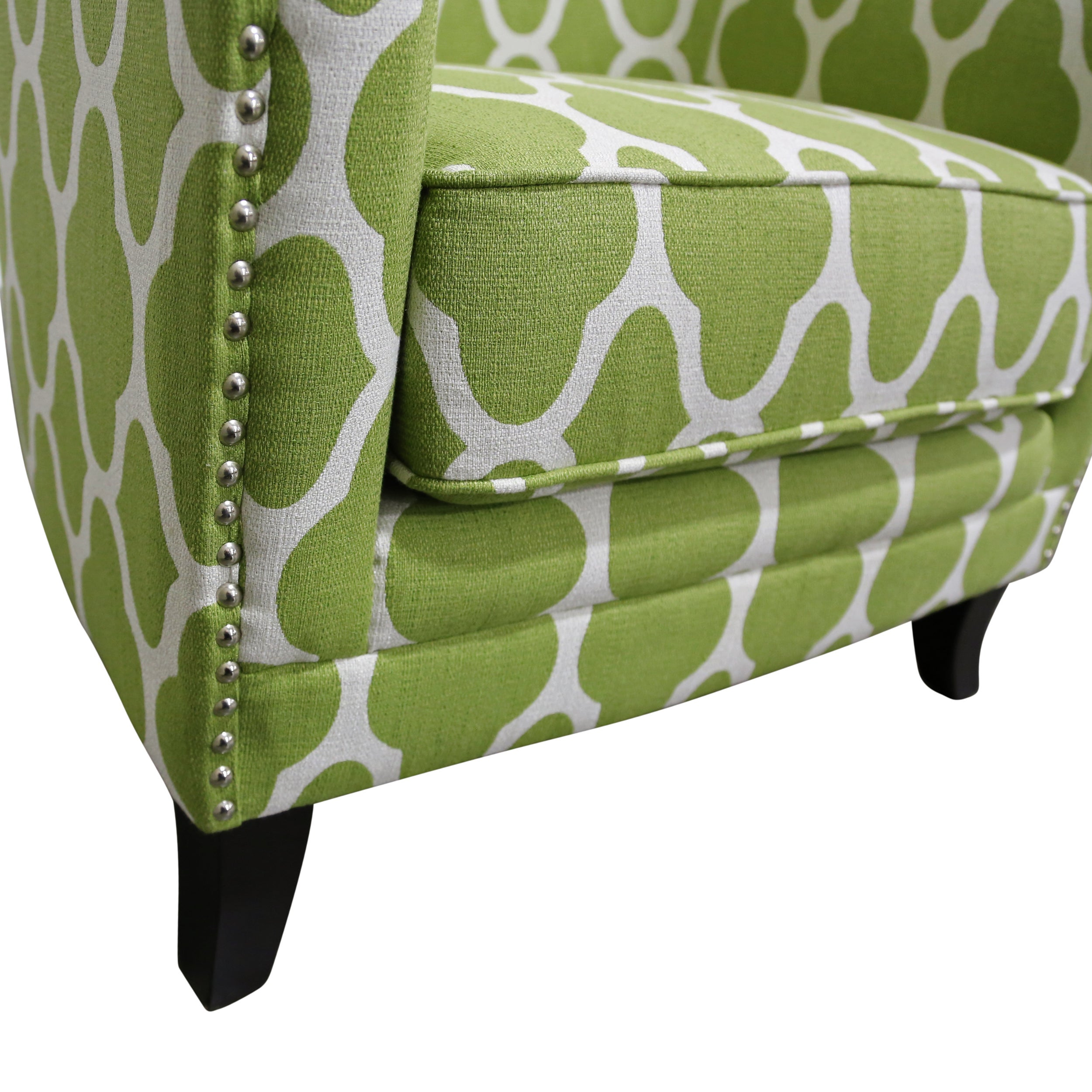 shop porter cassie apple green and white arabesque accent chair with