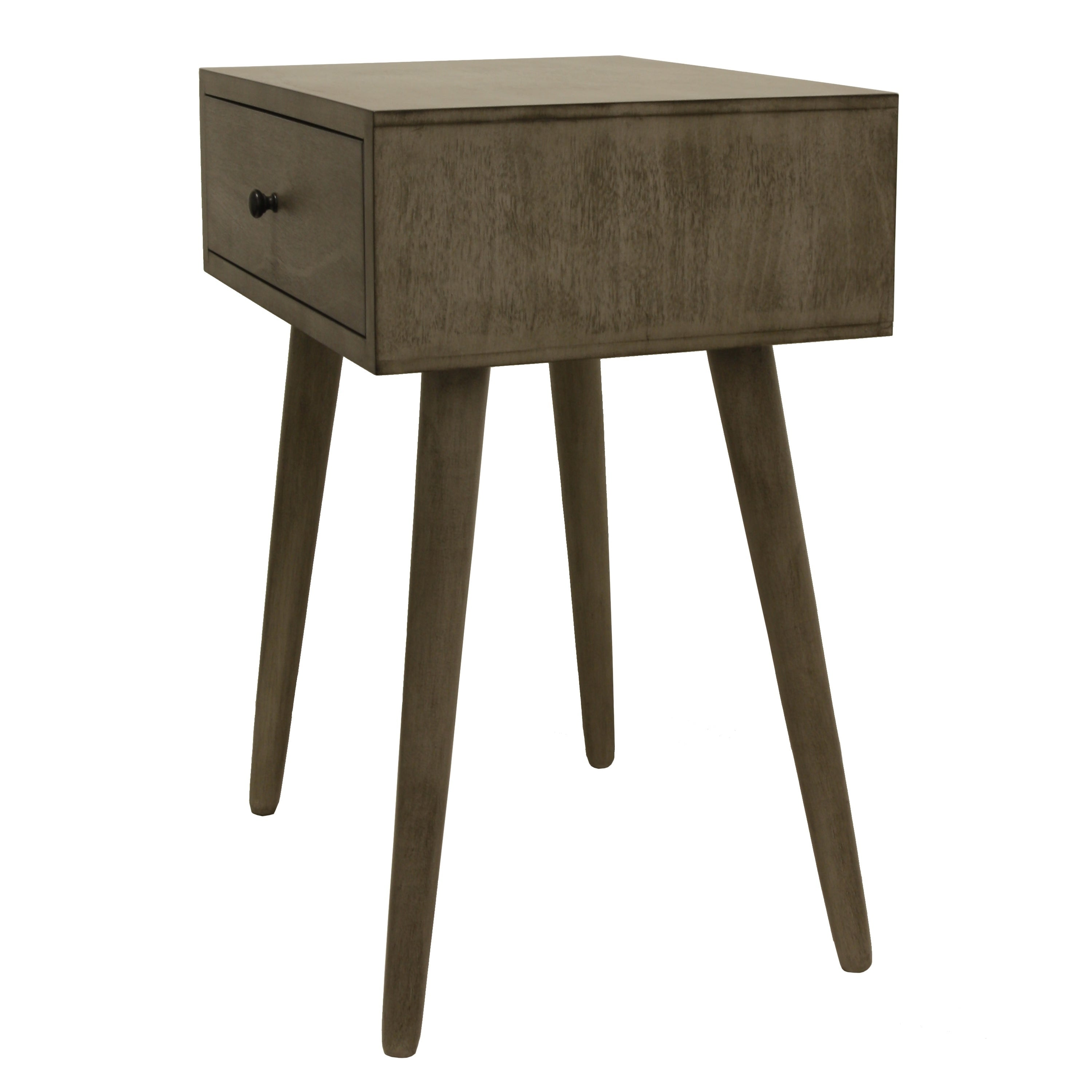 cdeef716b Shop Mid-Century Single Drawer Wood Side Table - Free Shipping Today -  Overstock - 12223530