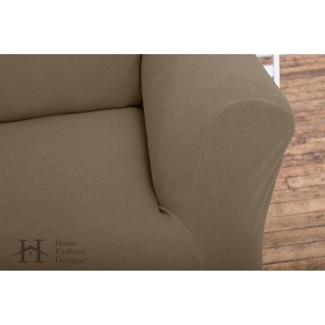 Cambria Collection Heavyweight Stretch Sofa Slipcover
