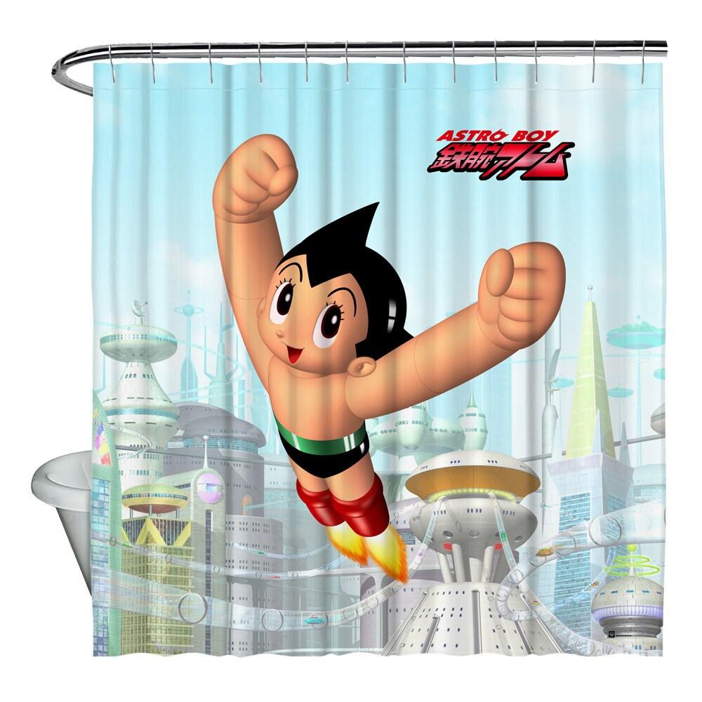 Shop Astro Boy City Shower Curtain