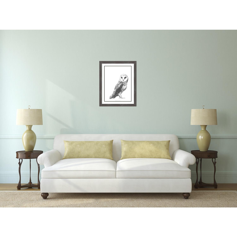 Framed Art Print \'Wildlife Snapshot: Owl\' by Naomi McCavitt 25 x 31 ...