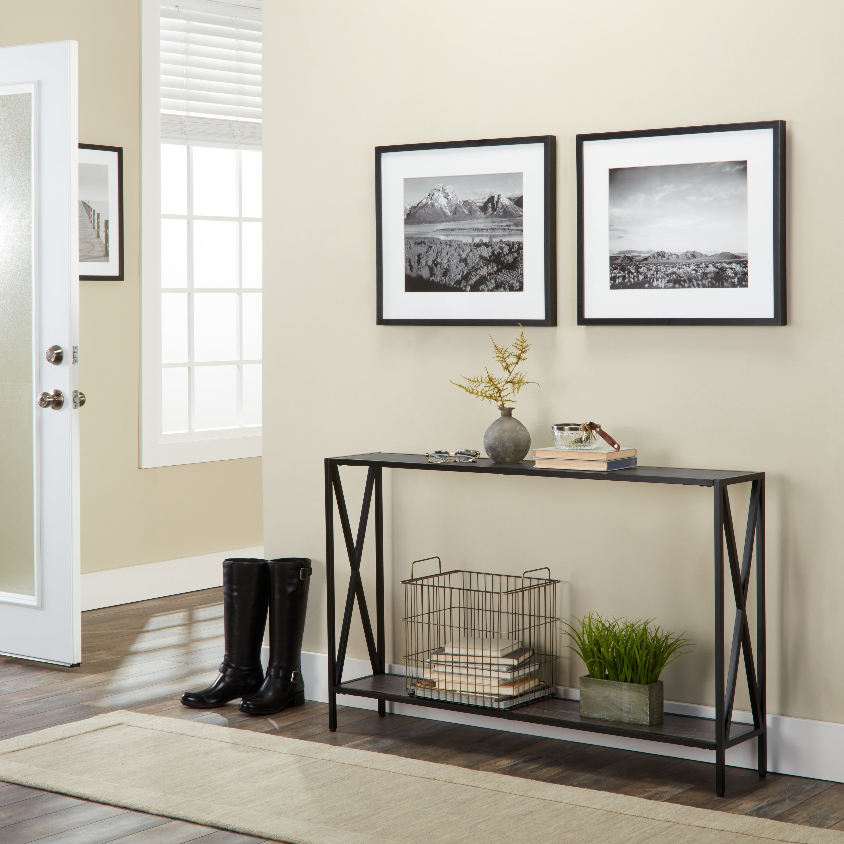 Shop Porch & Den Bywater Dauphine Cross Design Console Table - On ...