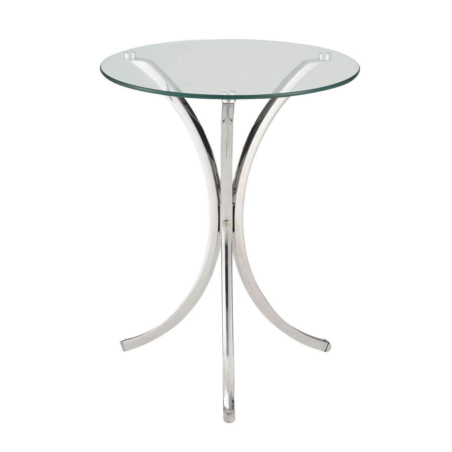 Shop Coaster Company Chrome And Tempered Glass Snack Table   On Sale   Free  Shipping Today   Overstock.com   12226961