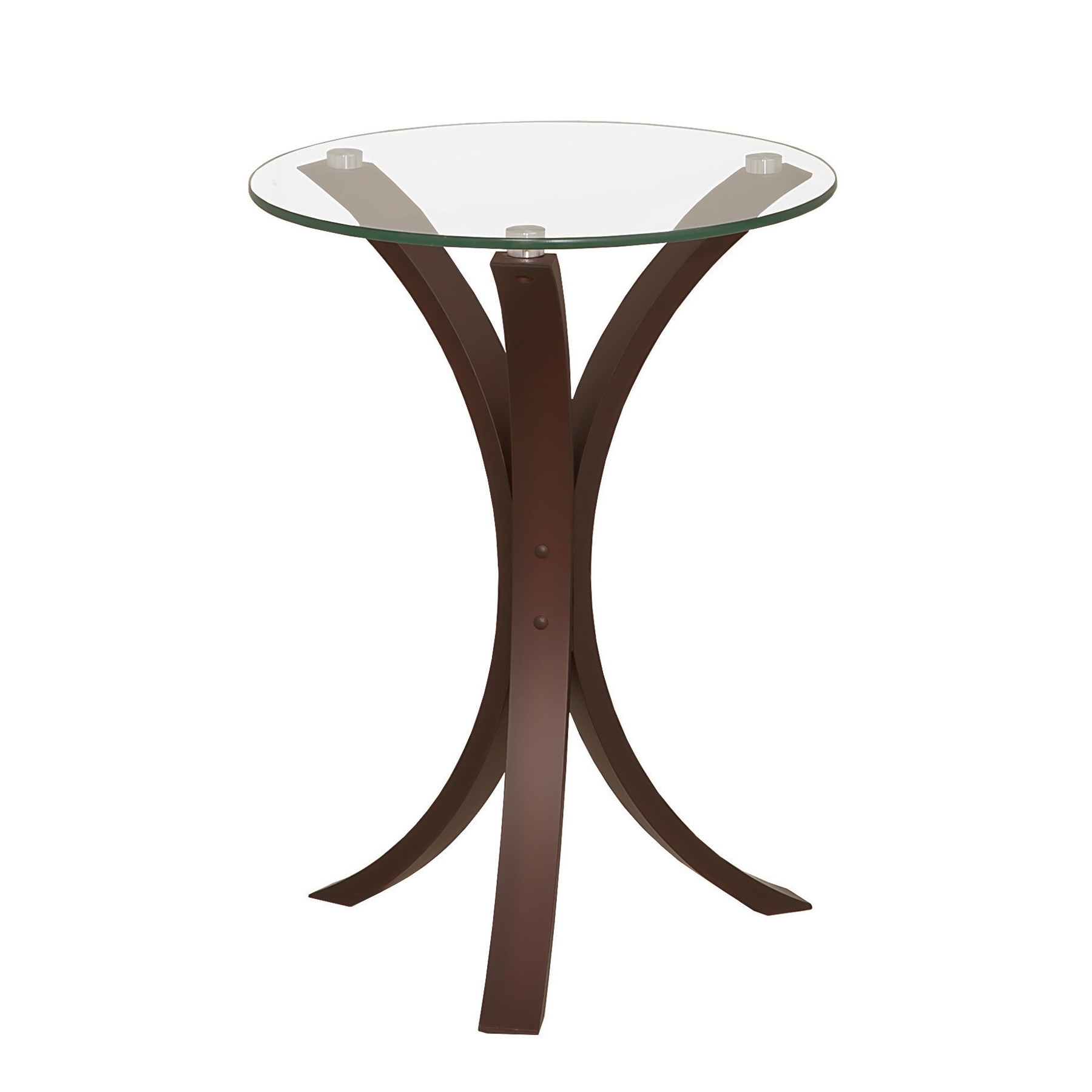 Shop coaster company cappuccino colored wood and tempered glass snack end table on sale free shipping today overstock com 12227054