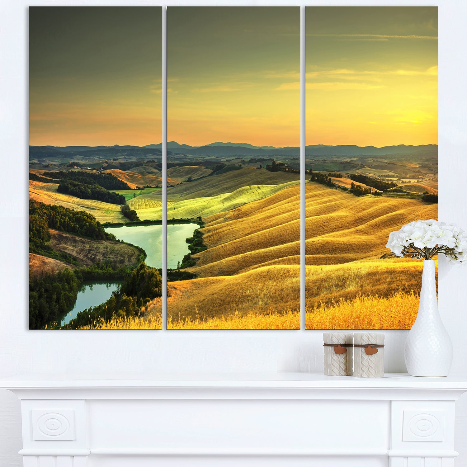Rural Landscape Italy Panorama - Oversized Landscape Wall Art Print ...