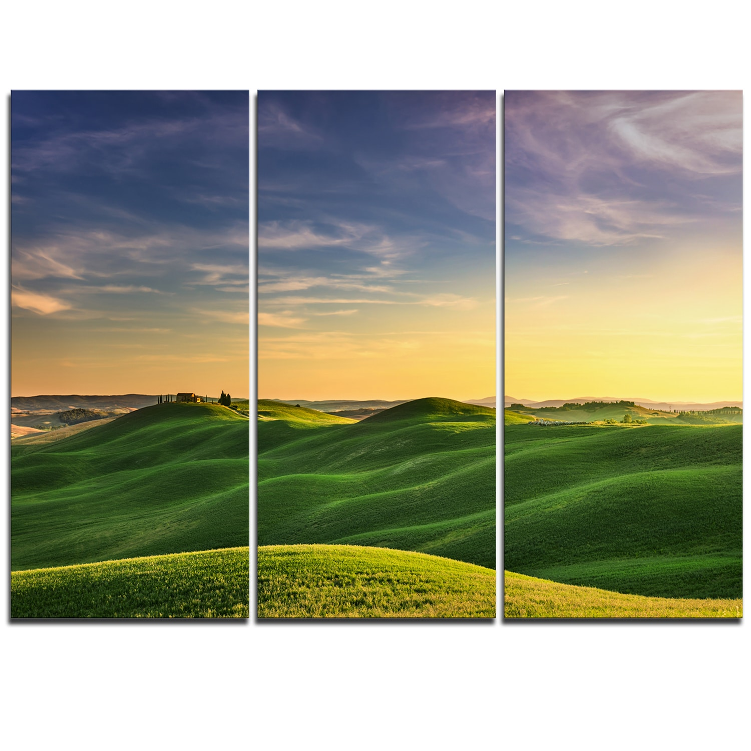 Green Rural Rolling Hills Tuscany - Oversized Landscape Wall Art ...