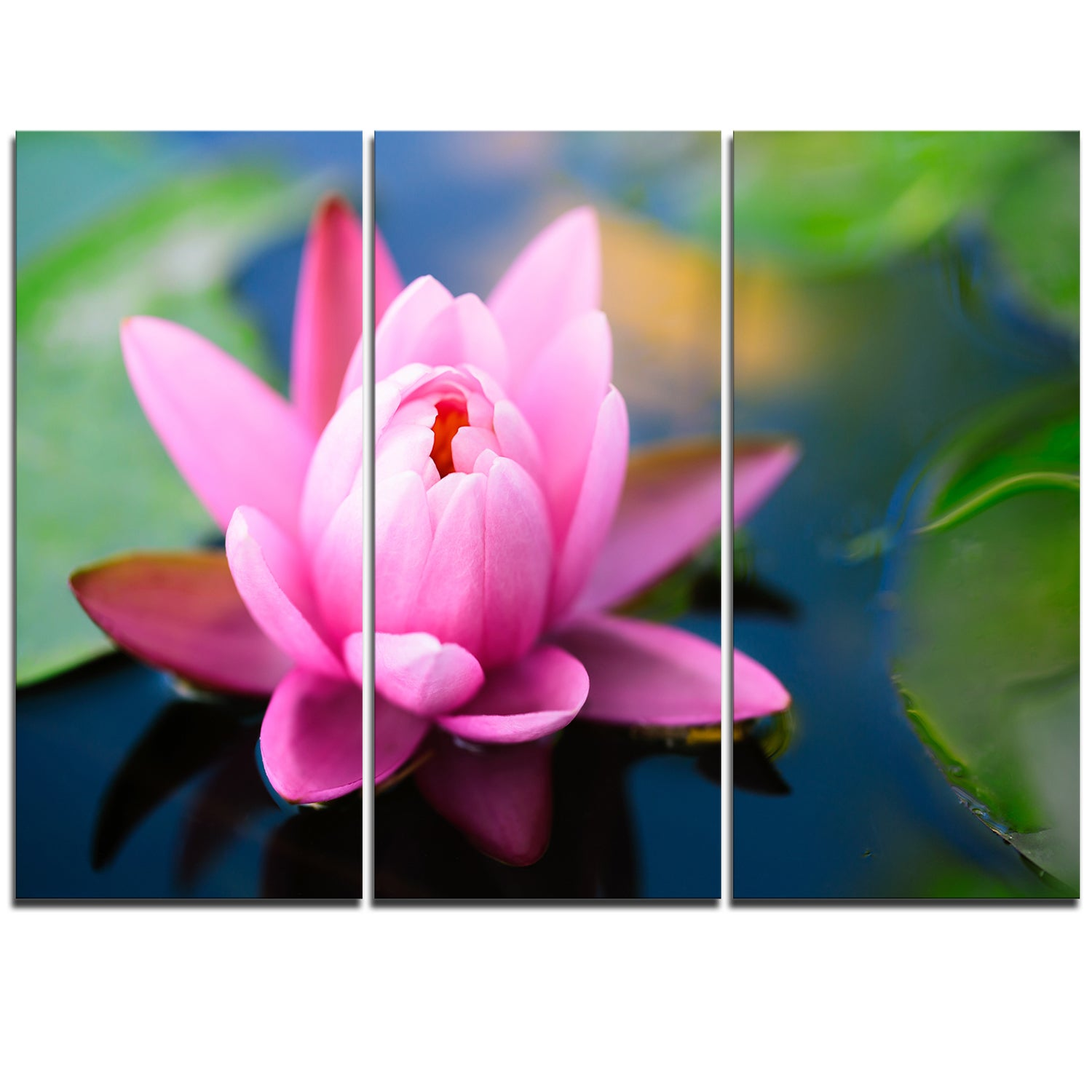 Shop large lotus flower in the pond large floral canvas art print shop large lotus flower in the pond large floral canvas art print blue on sale free shipping today overstock 12236600 mightylinksfo