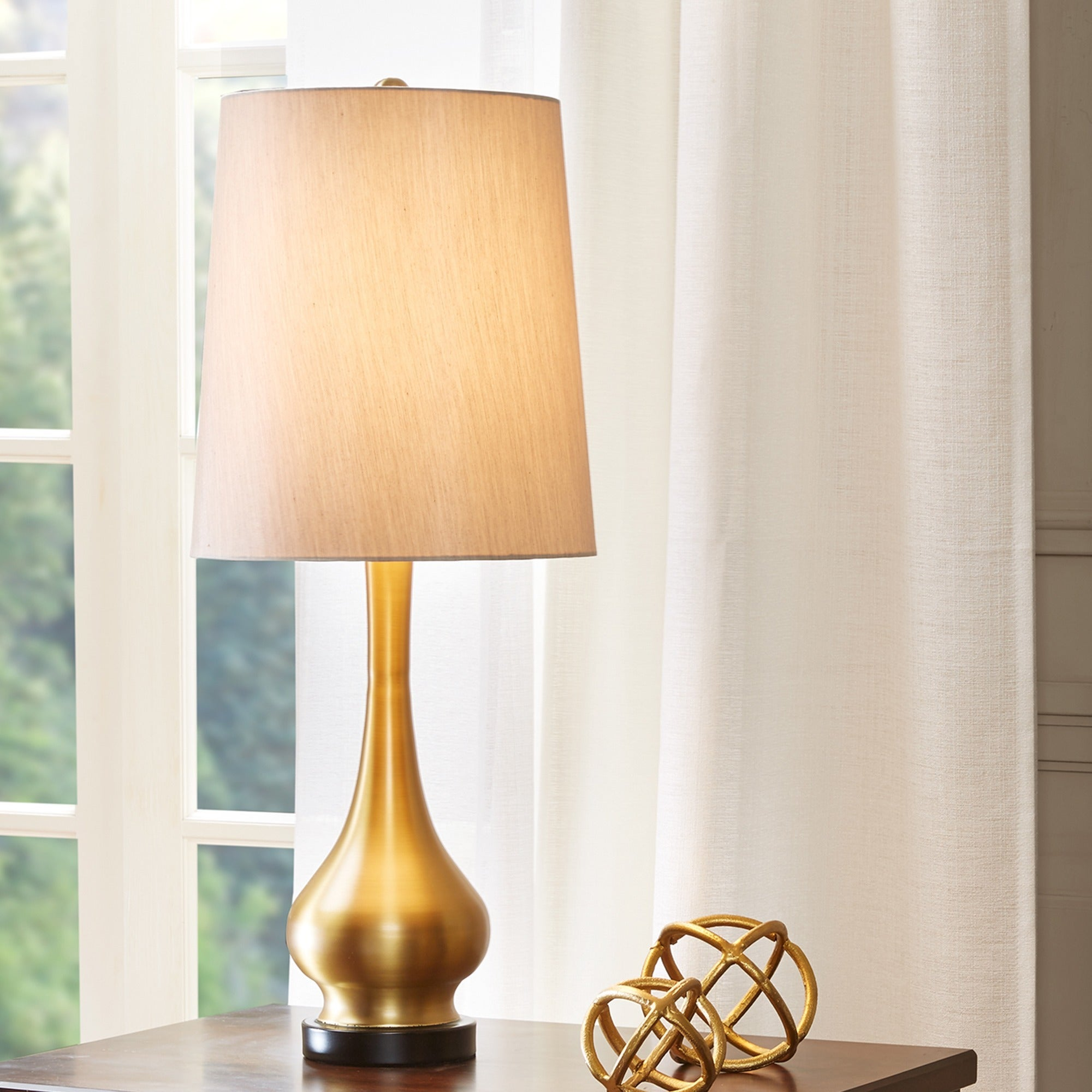 Shop Madison Park Signature Lia Gold Table L& - Free Shipping Today - Overstock.com - 12237758 & Shop Madison Park Signature Lia Gold Table Lamp - Free Shipping ...
