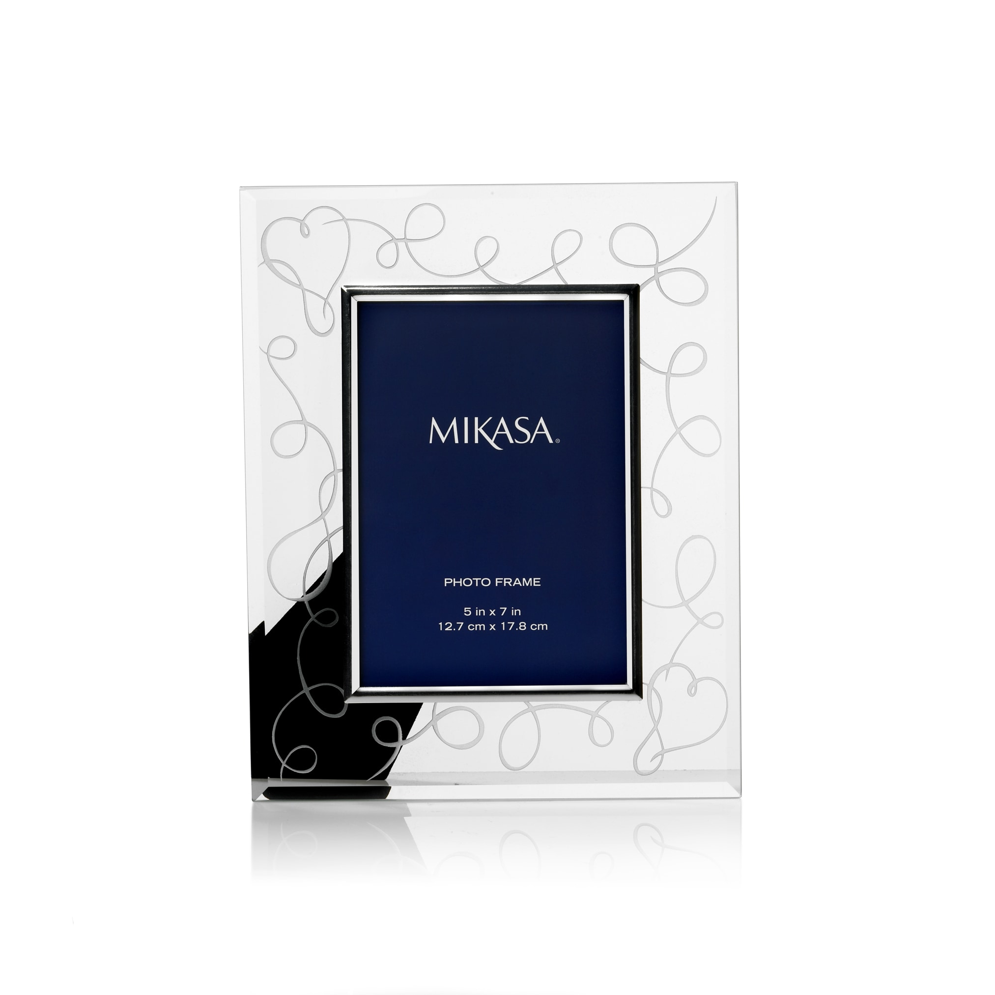 Mikasa Love Story Metal/Glass 5-inch x 7-inch Frame - Free Shipping ...