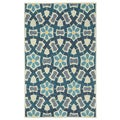 Stepping Stone Sand Blue Hand Tufted Rug (7' x 9')