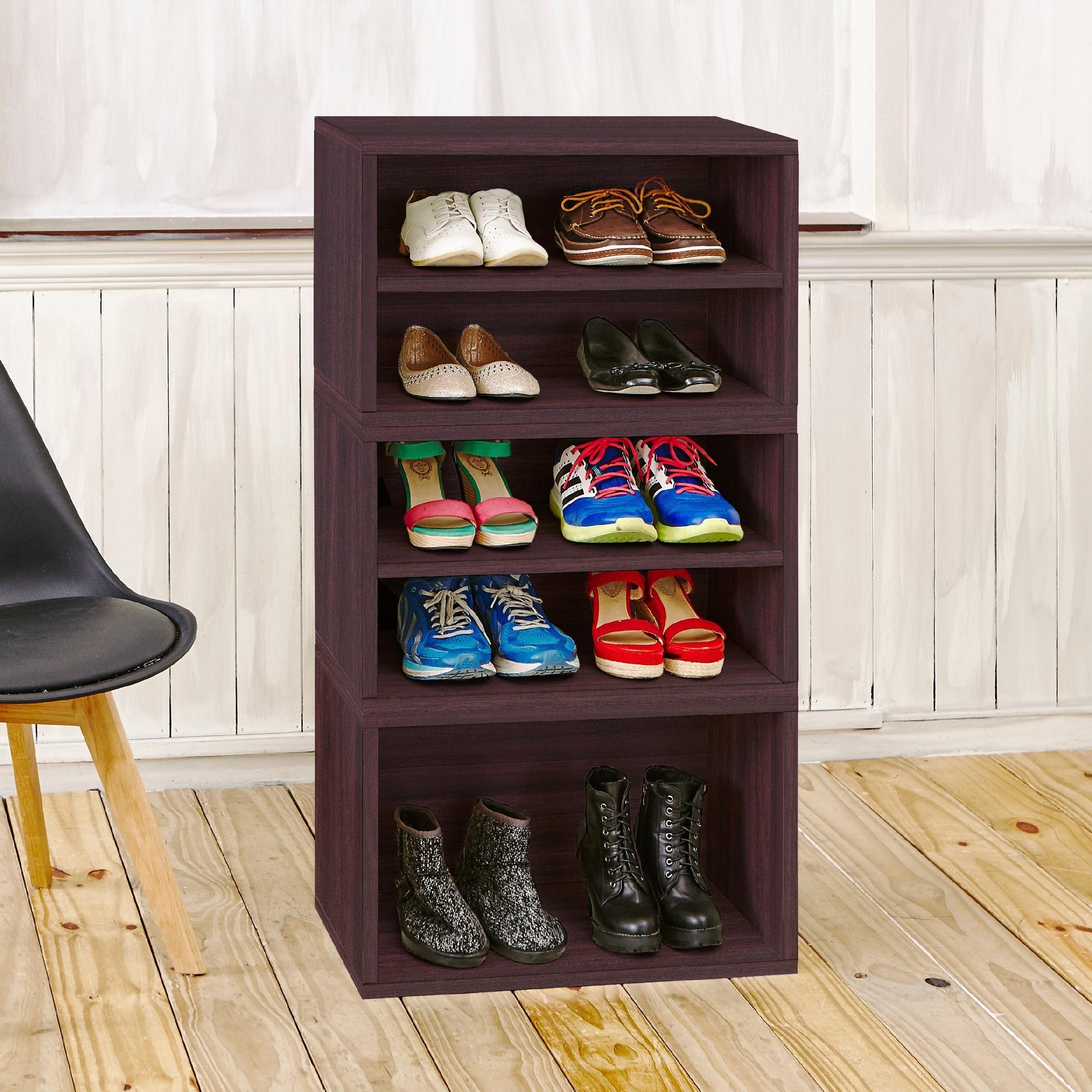 Shop Pisa Modular Storage System Shoe Rack Bookcase Shelving By Way Basics  LIFETIME GUARANTEE   Free Shipping Today   Overstock.com   12244383