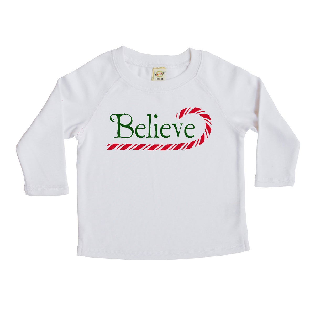 shop rocket bug believe christmas cotton long sleeve shirt free shipping on orders over 45 overstockcom 12246696