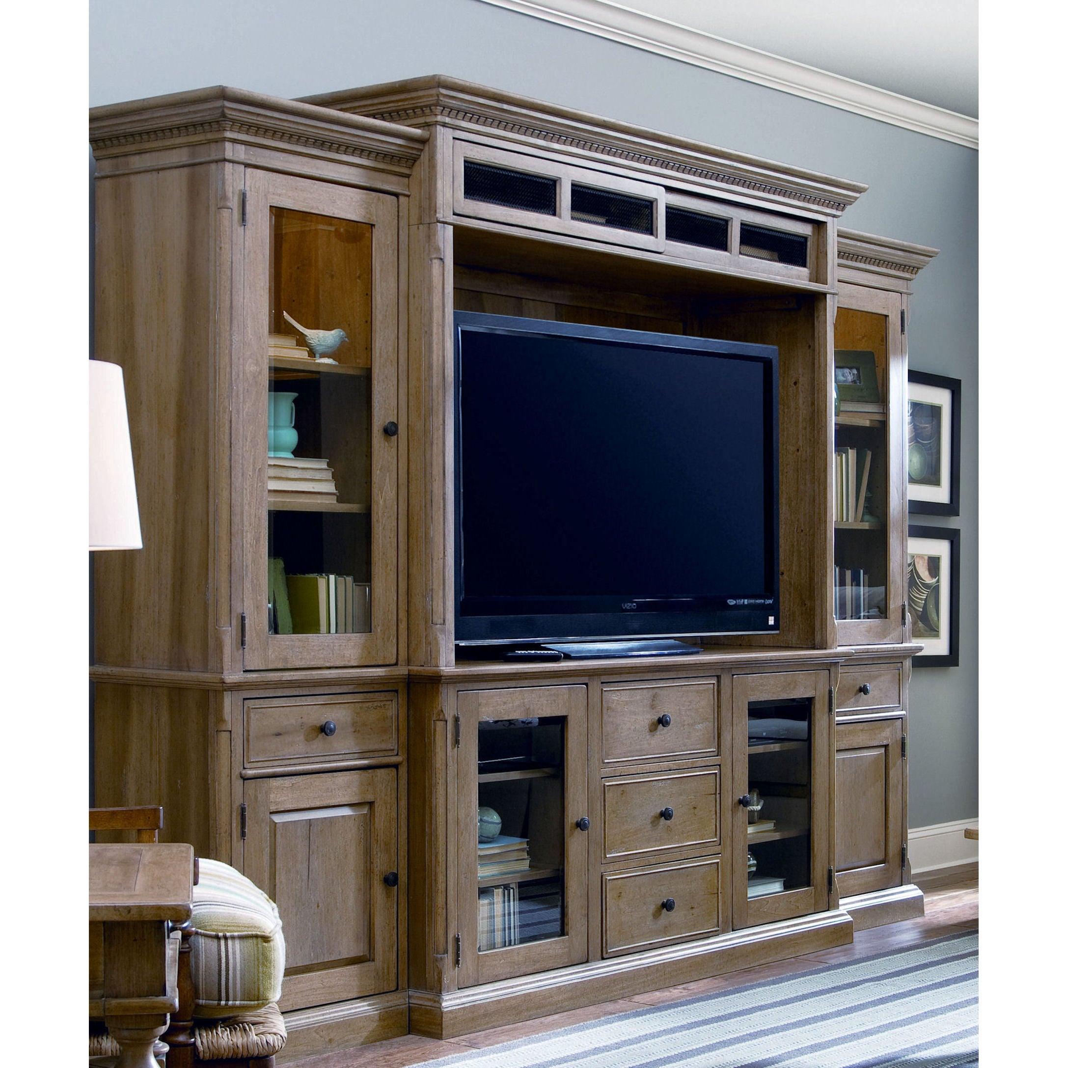 Merveilleux Shop Paula Deen Down Home Oatmeal Home Entertainment Wall System   Free  Shipping Today   Overstock.com   12247613
