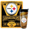 NFL Steelers Mug N' Snug 50-inches x 60-inches Fleece Throw and 16-ounces Tumbler Set